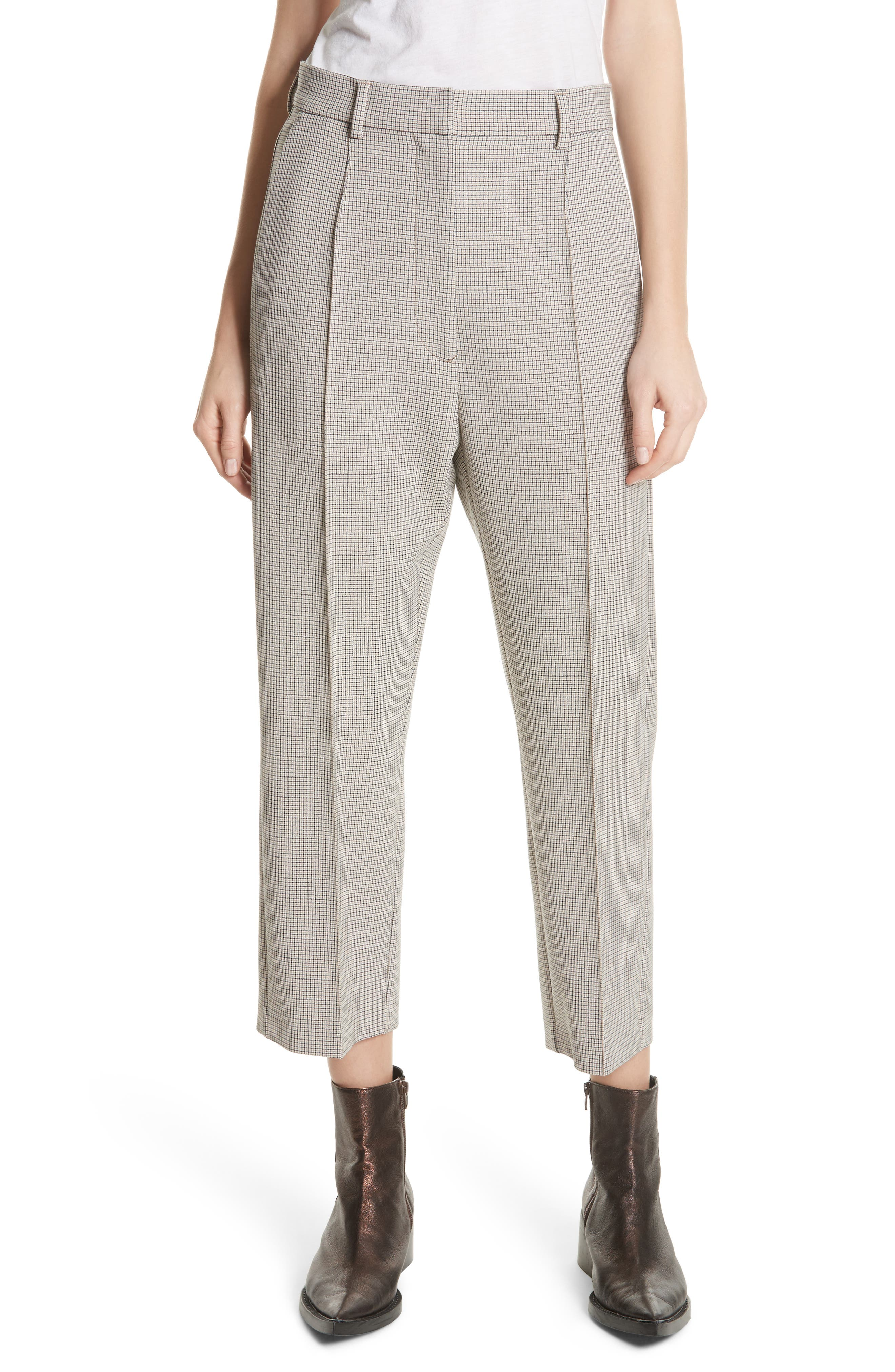 MM6 Maison Margiela Plaid Bonded Jersey Trousers