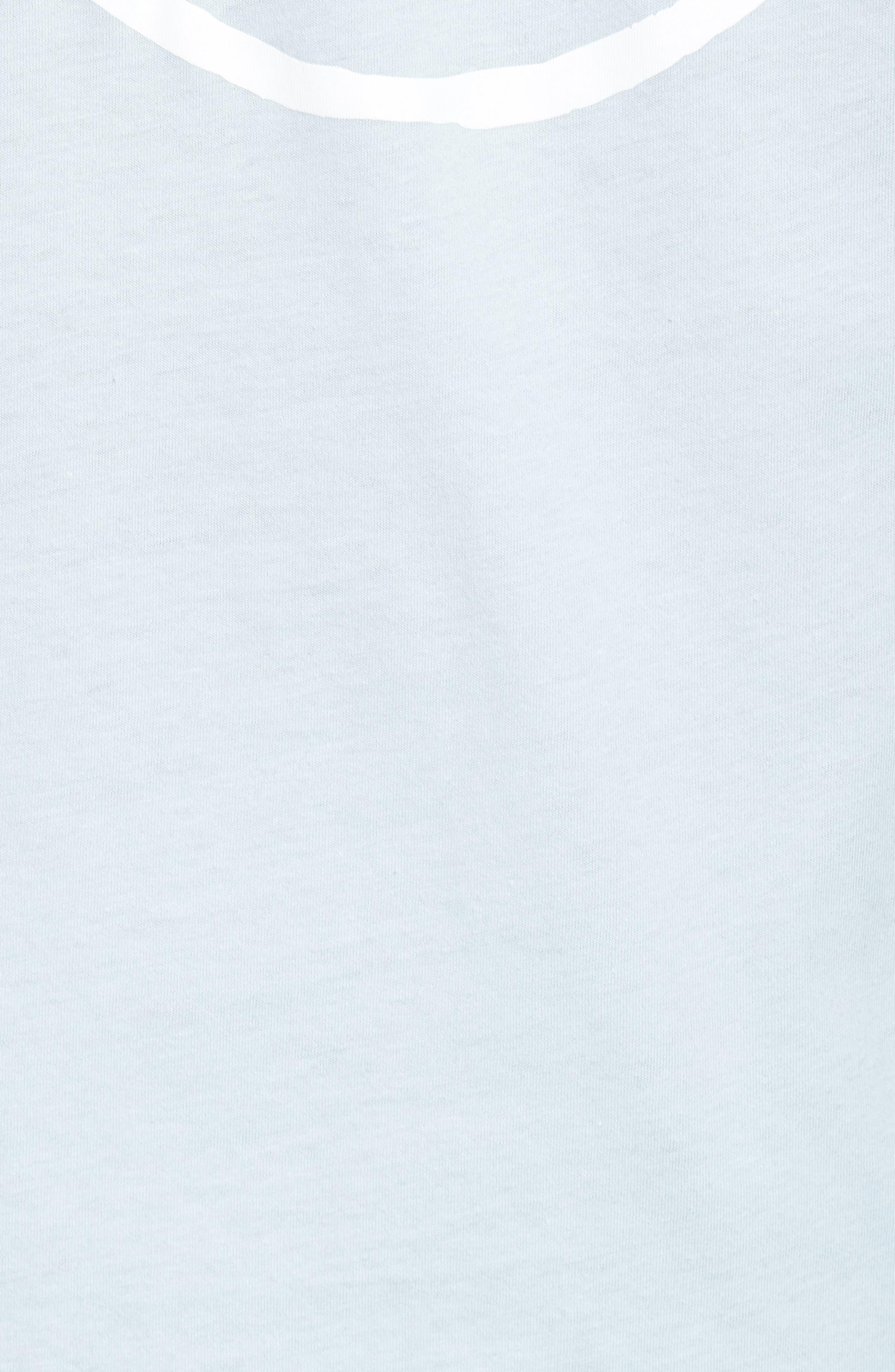 Yusuke Palms Graphic T-Shirt,                             Alternate thumbnail 5, color,                             Baby Blue