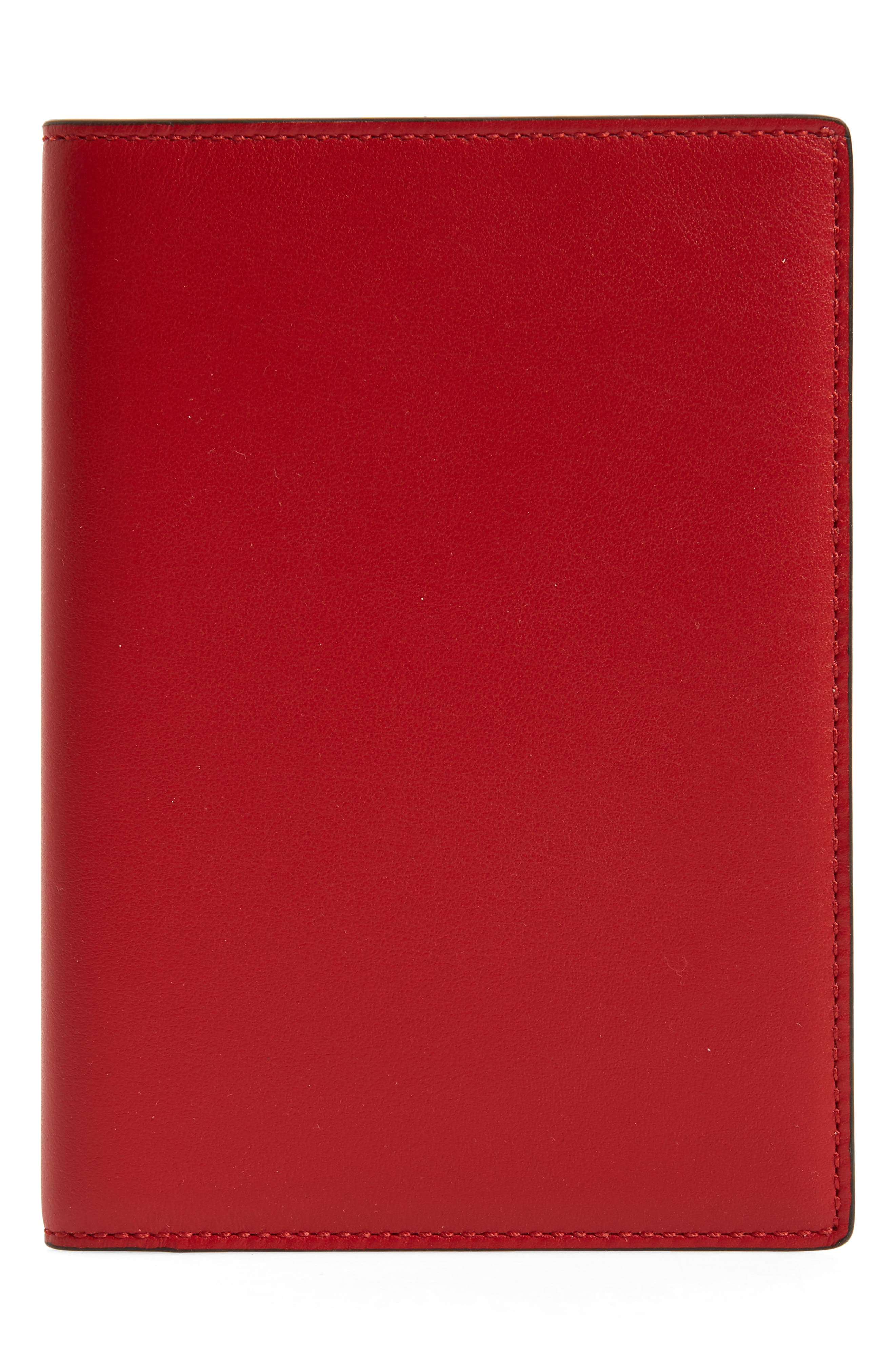 Hero Leather Passport Cover,                             Main thumbnail 1, color,                             Red