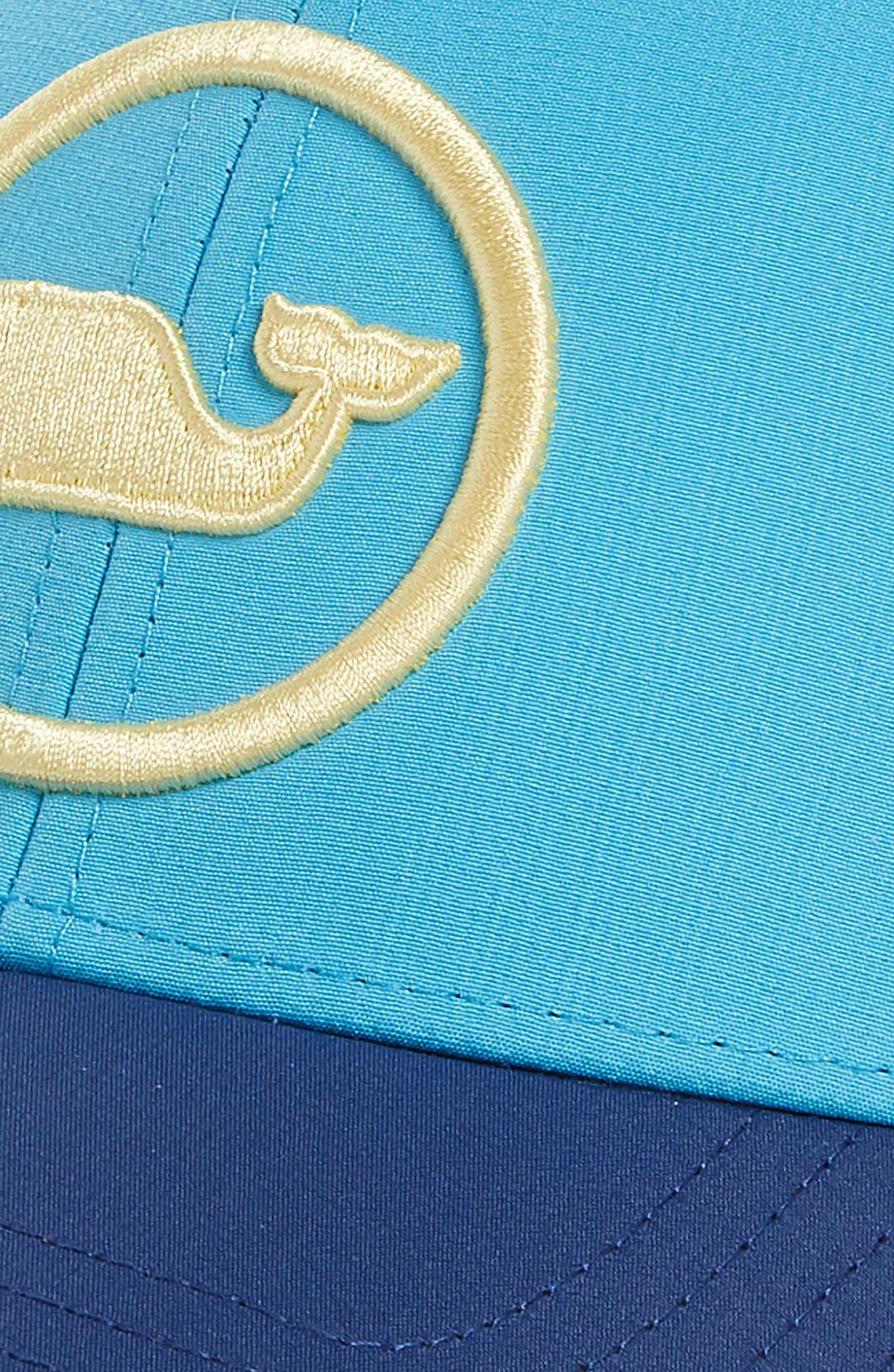 Whale Dot Trucker Cap,                             Alternate thumbnail 3, color,                             Antigua Blue