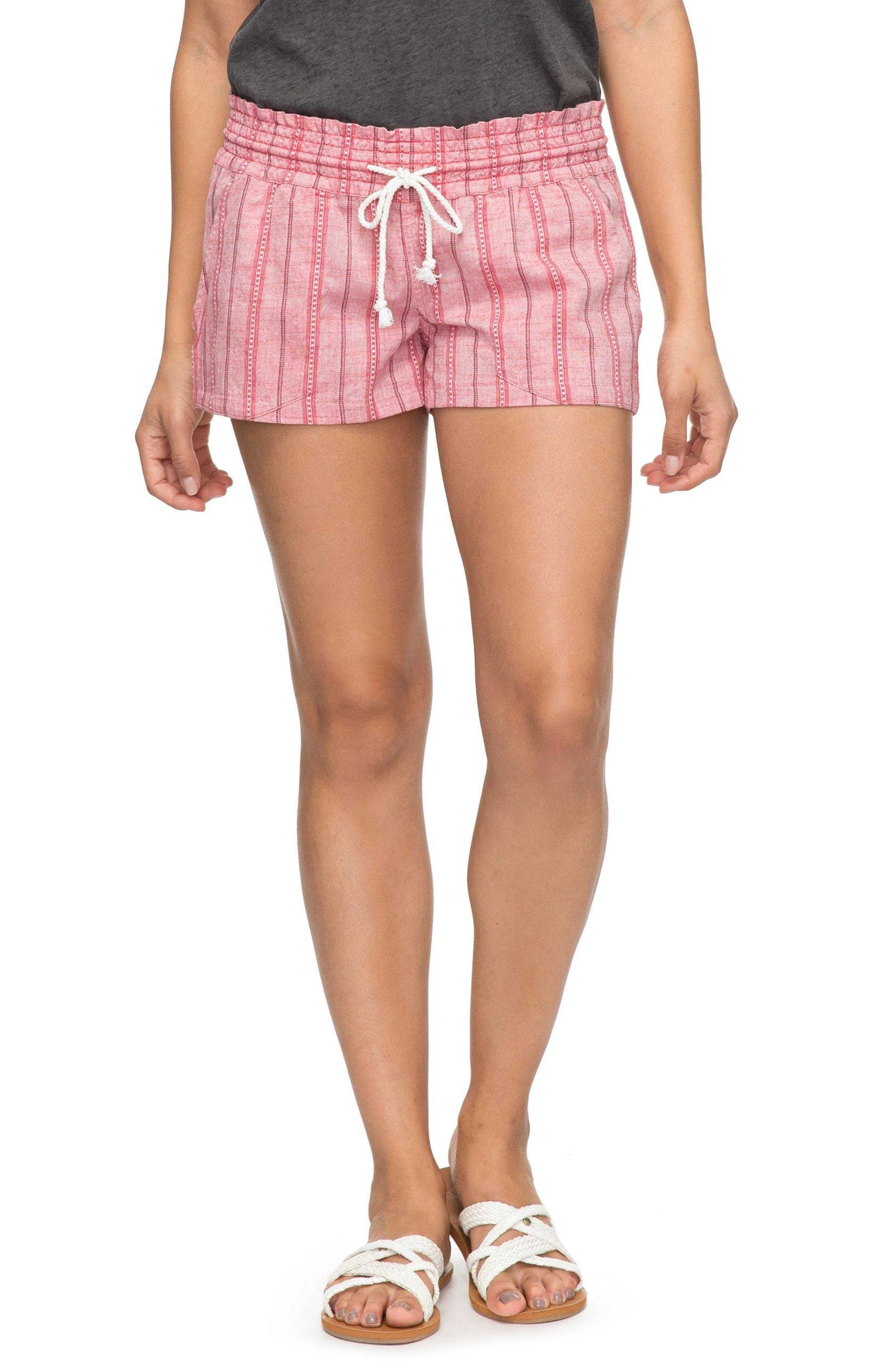 Oceanside Beach Shorts,                         Main,                         color, Holly Berry South Border