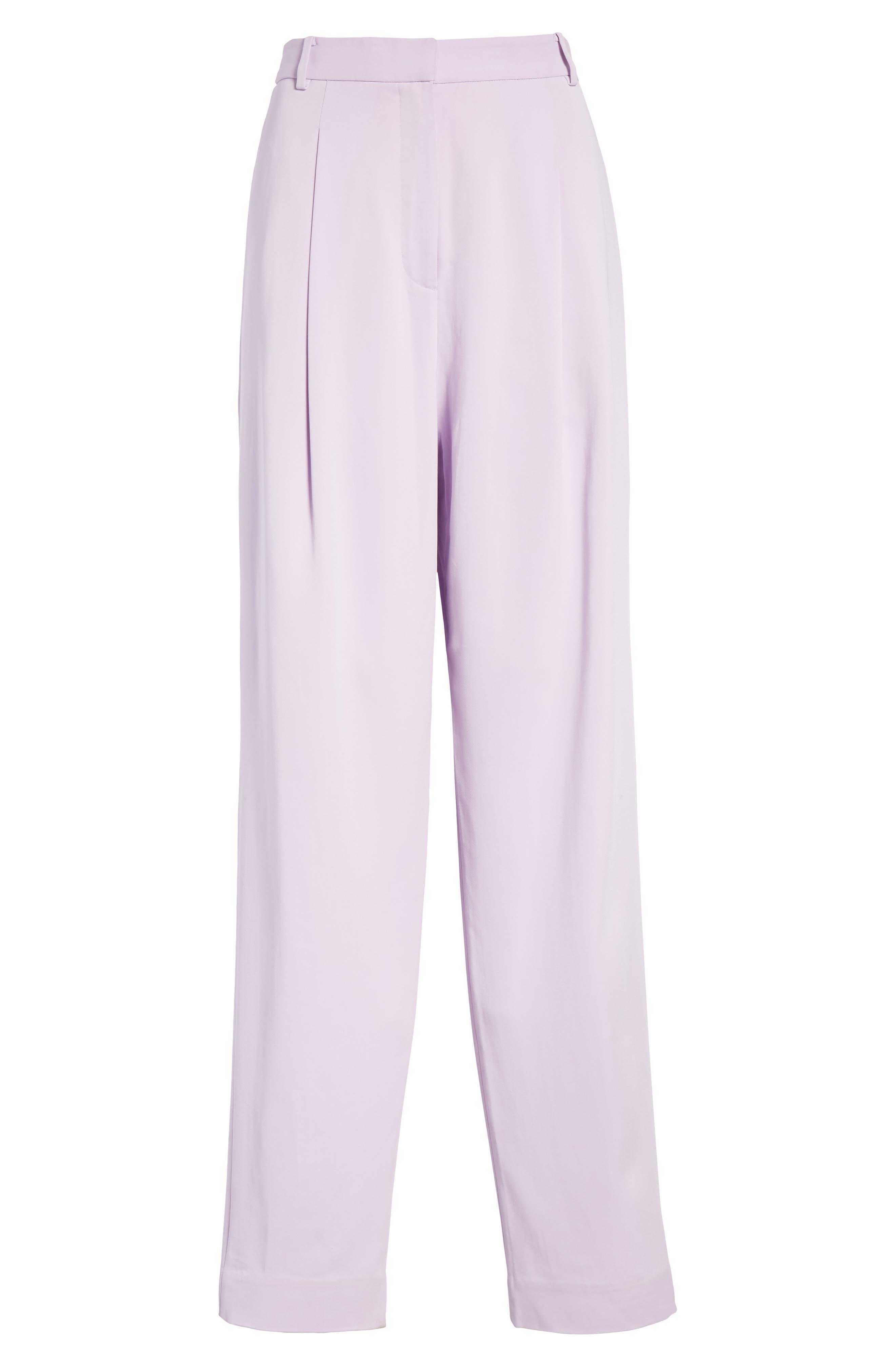 Sculpted Pleat Front Suit Pants,                             Alternate thumbnail 7, color,                             Lavender