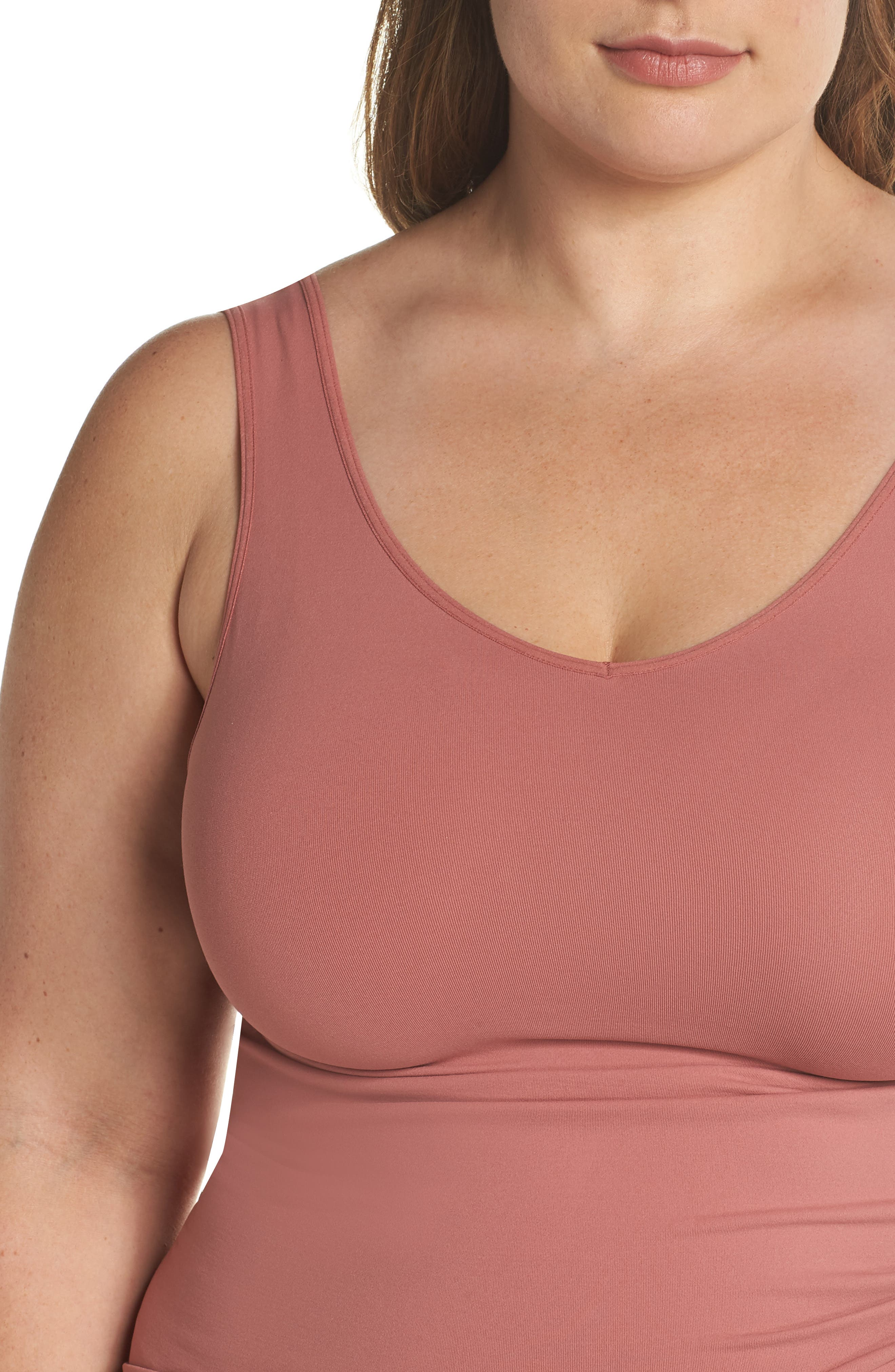 Alternate Image 5  - Halogen® Seamless Two-Way Tank (Plus Size) (2 for $49)