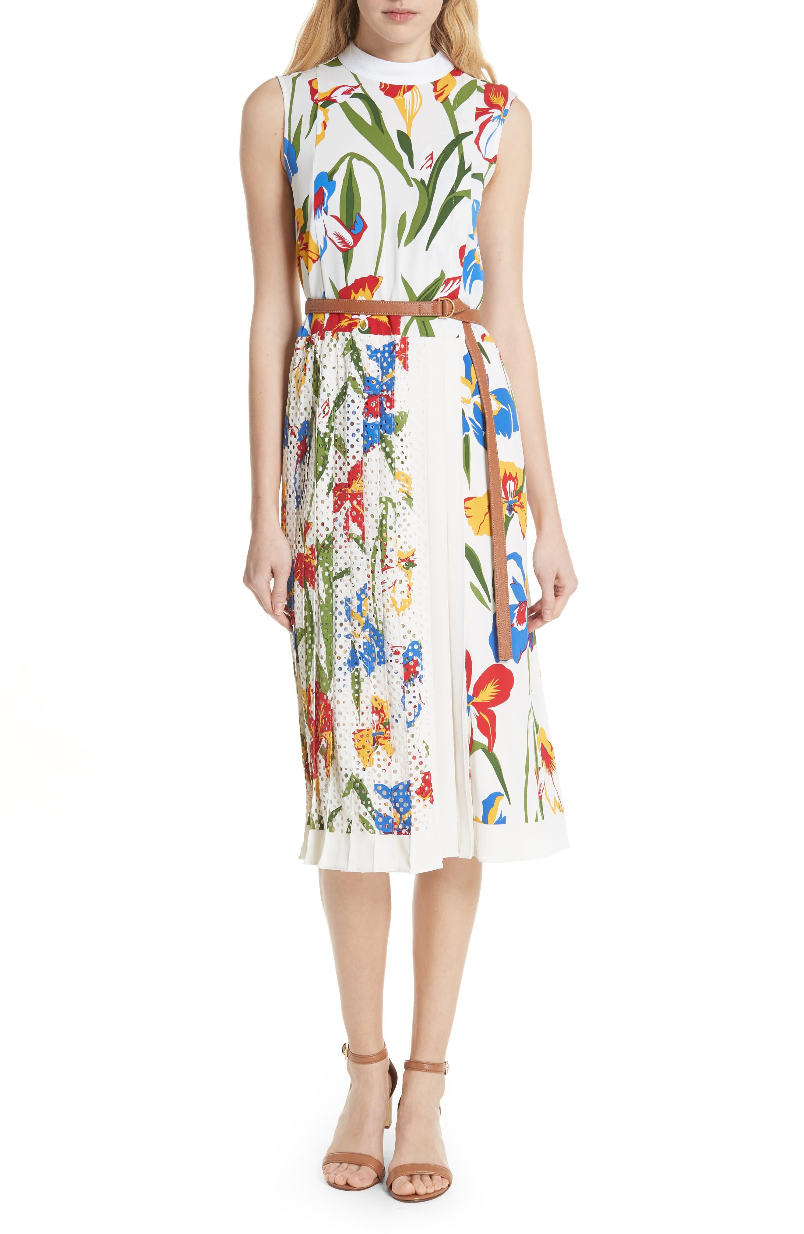Carine Floral Dress,                             Main thumbnail 1, color,                             Painted Iris
