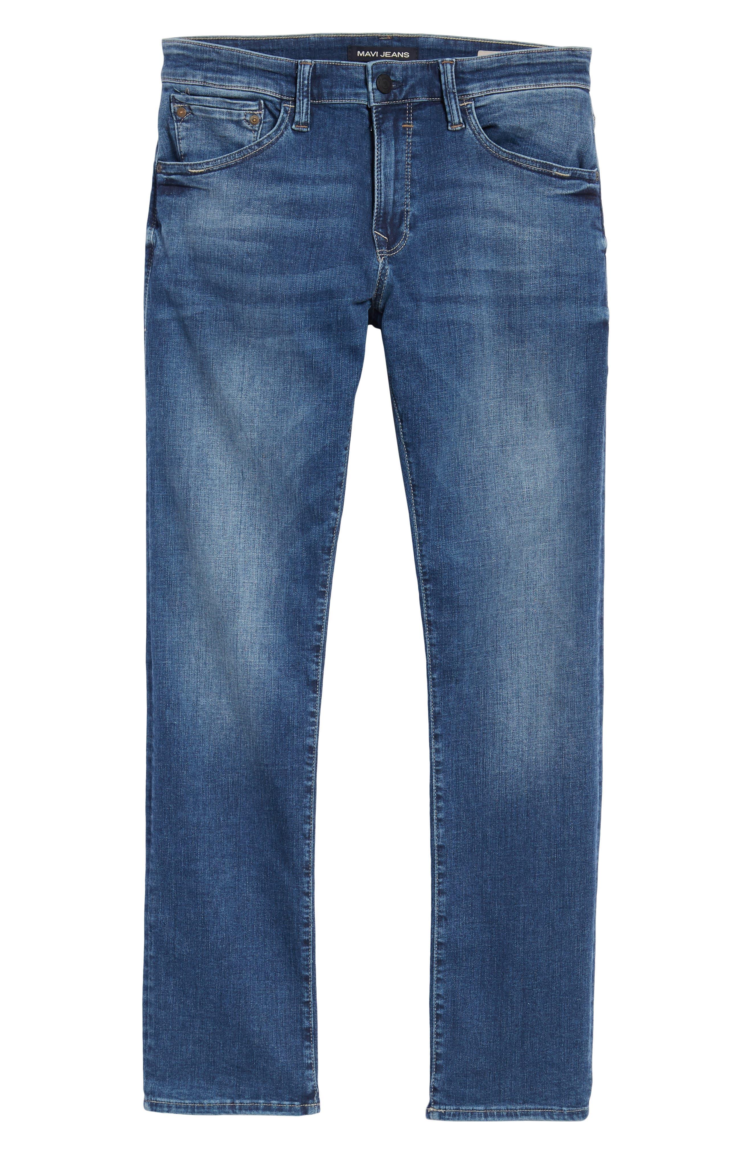 Zach Straight Leg Jeans,                             Alternate thumbnail 6, color,                             Indigo Cashmere