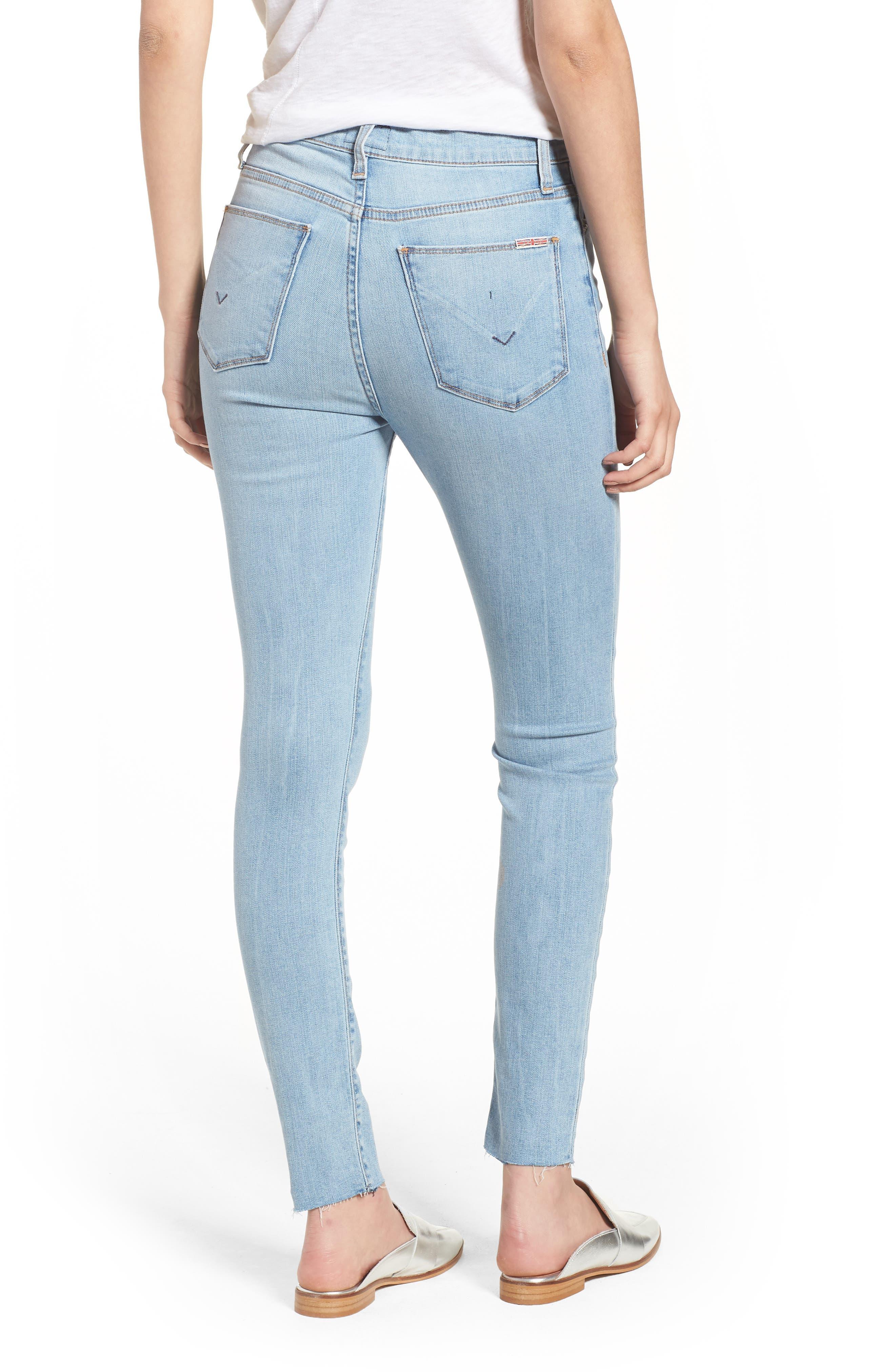 Hudson Barbara High Waist Ankle Skinny Jeans,                             Alternate thumbnail 2, color,                             Gemini