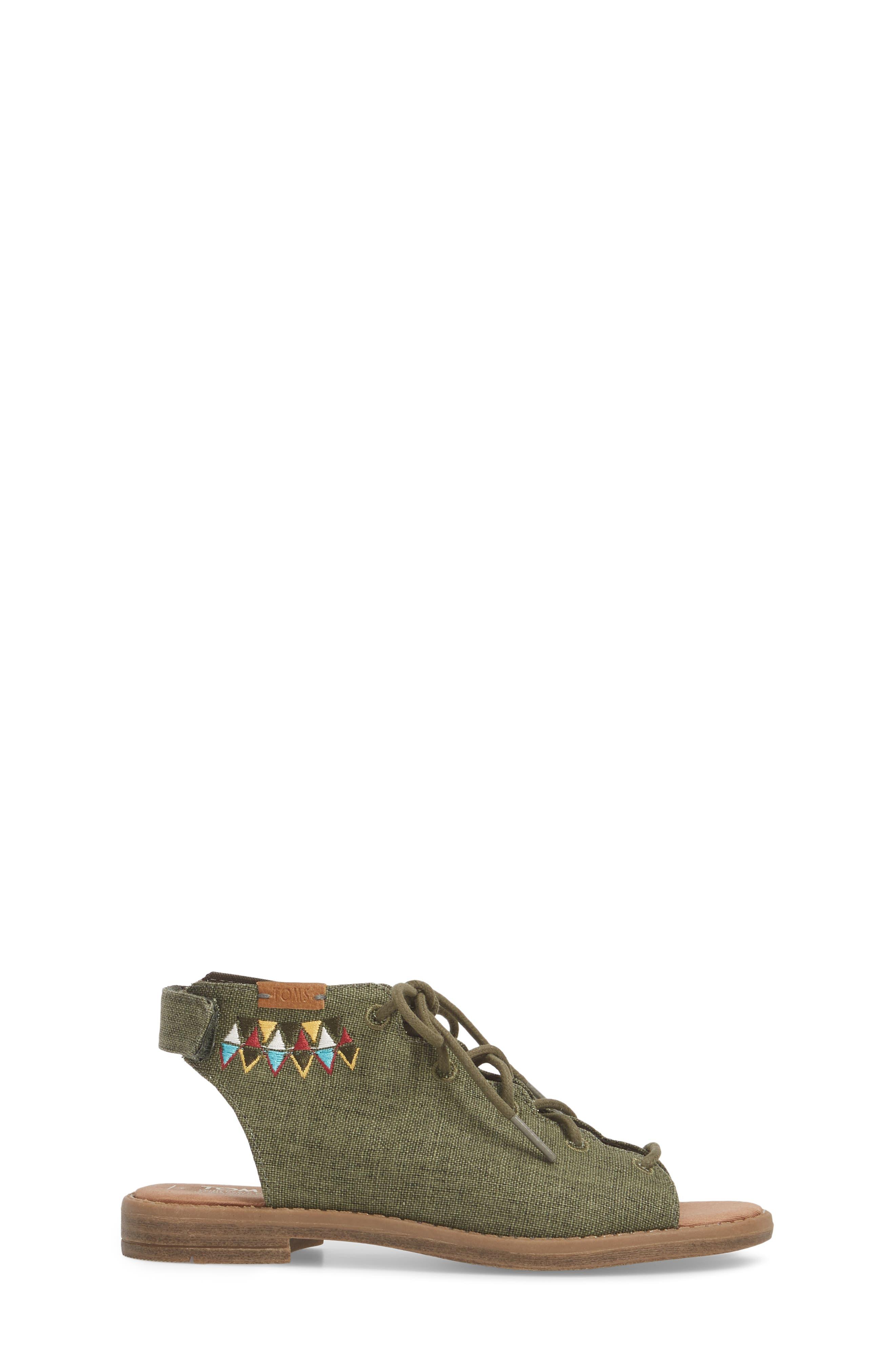 Uma Sandal,                             Alternate thumbnail 3, color,                             Cypress Coated Linen
