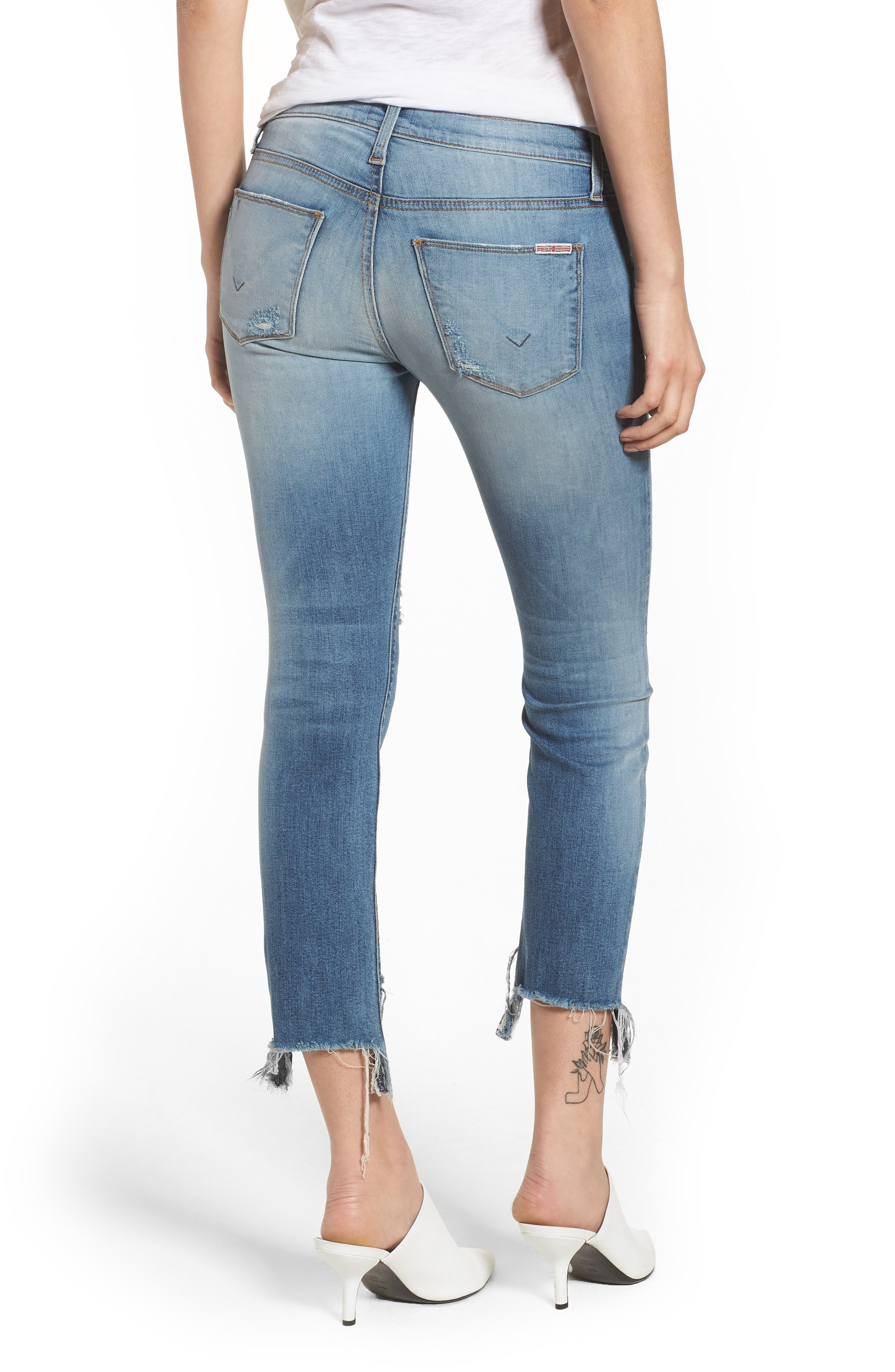 Tally Ripped Crop Skinny Jeans,                             Alternate thumbnail 2, color,                             Countdown