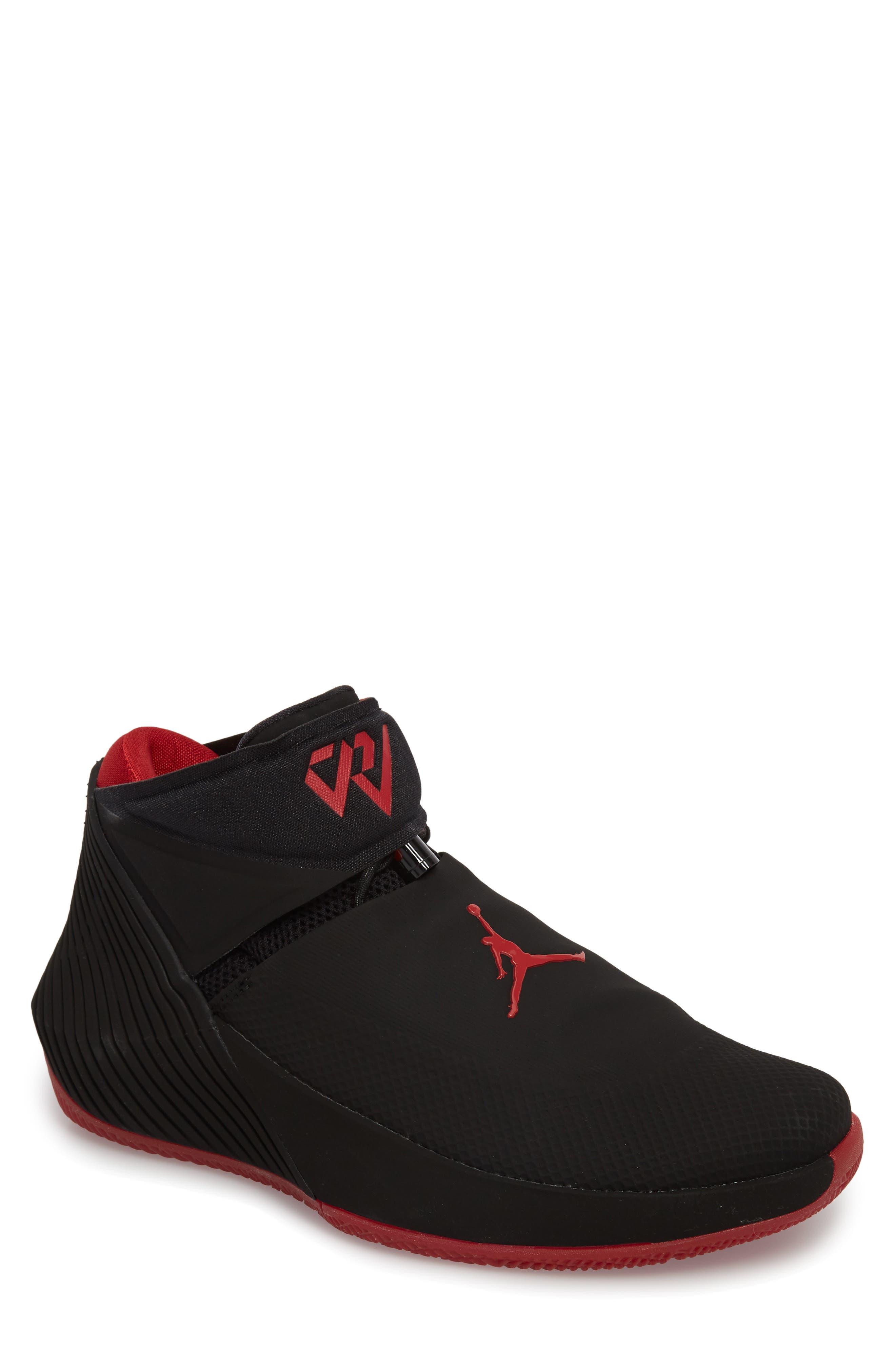 Jordan 'Why Not?' Zero.1 Basketball Shoe,                             Main thumbnail 1, color,                             Black/ Hyper Royal