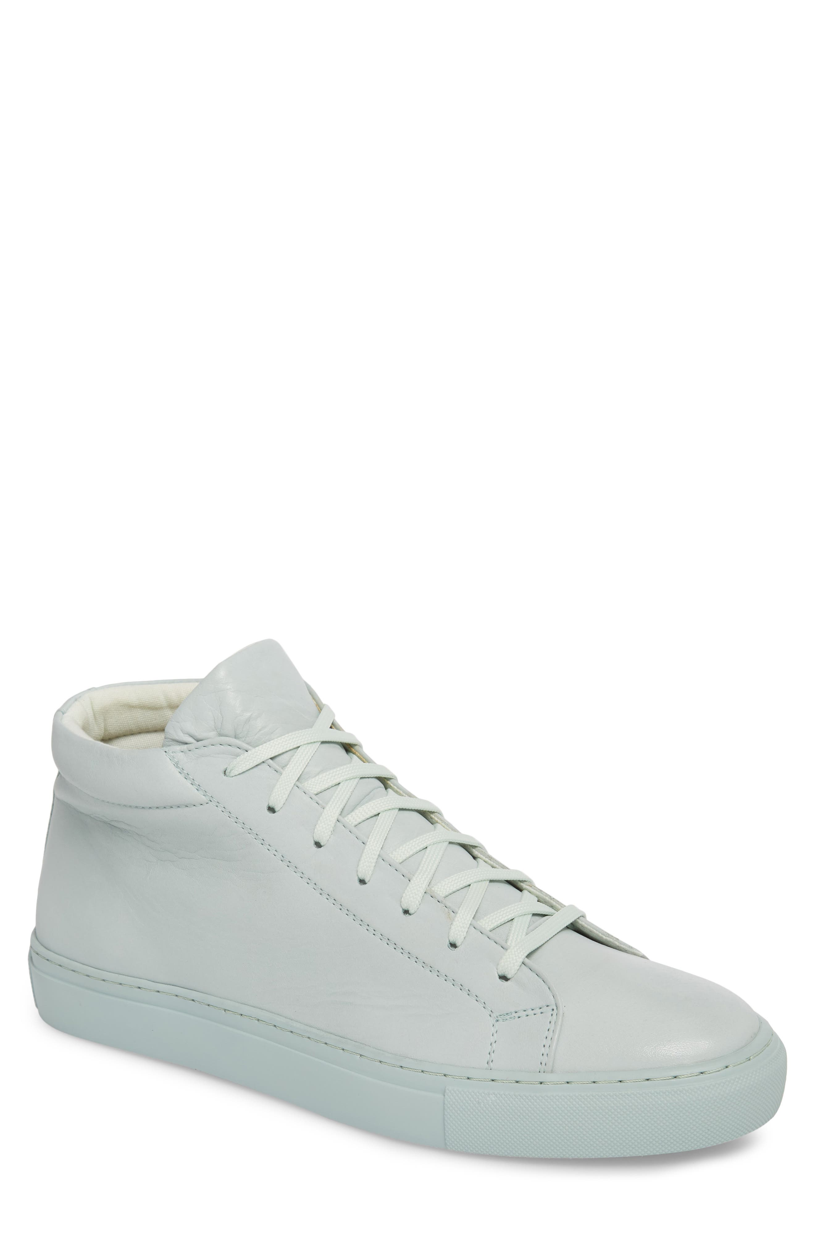 Lexington Mid Top Sneaker,                         Main,                         color, Mint Green Leather