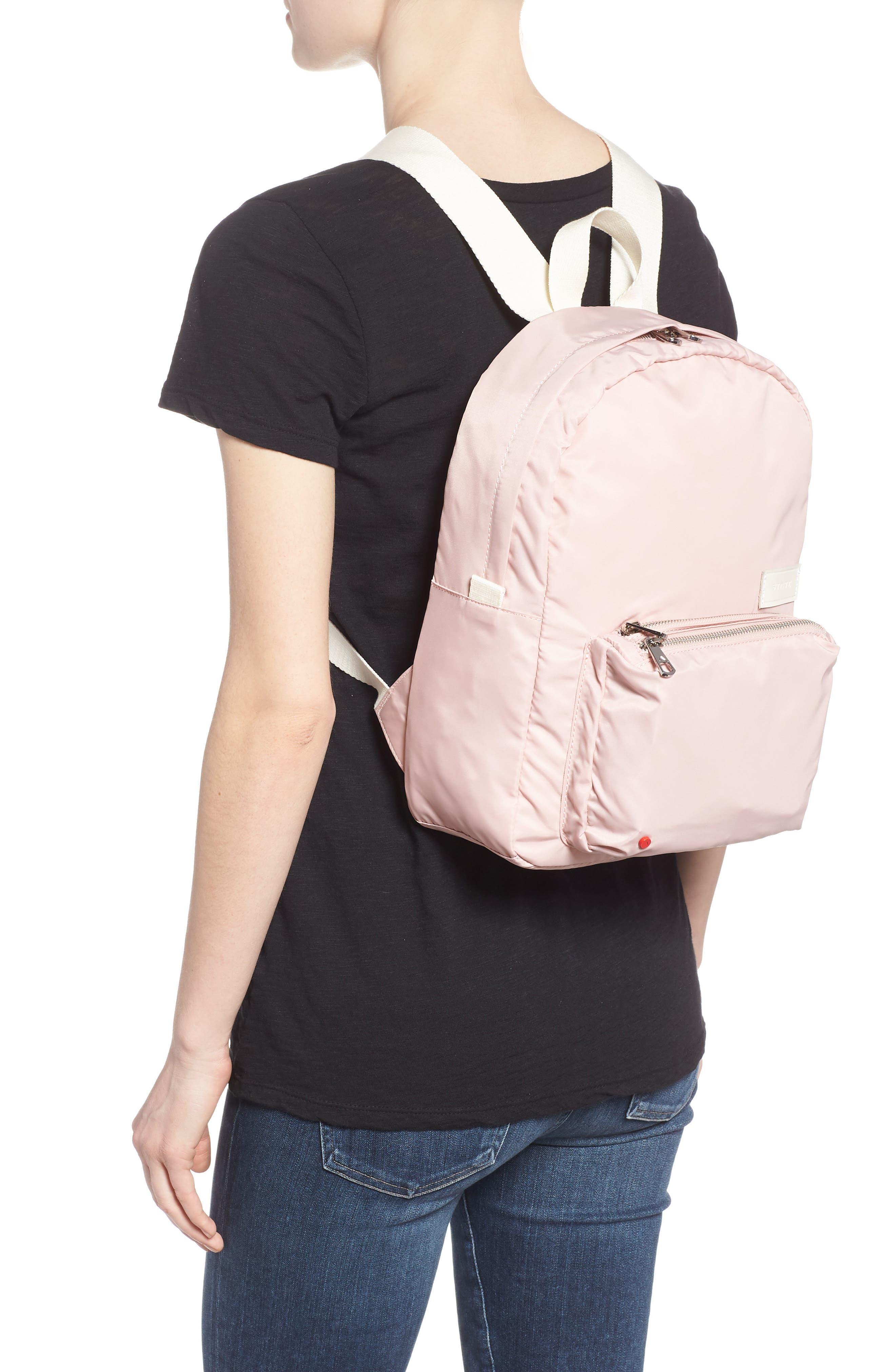 The Heights Mini Lorimer Nylon Backpack,                             Alternate thumbnail 2, color,                             Rose