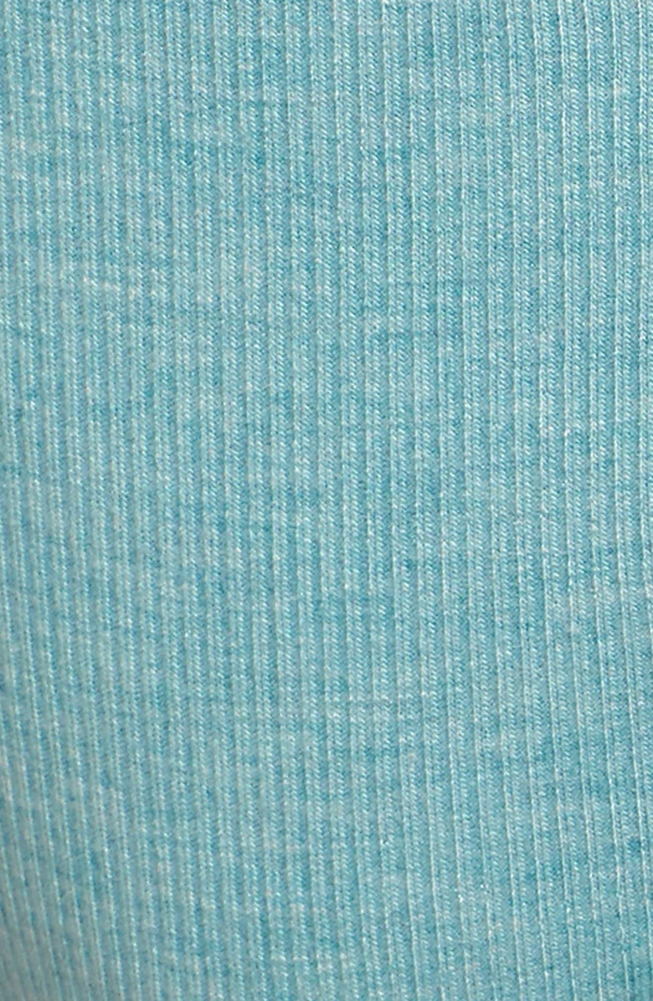 Rib Knit Bikini,                             Alternate thumbnail 5, color,                             Prickly Pear