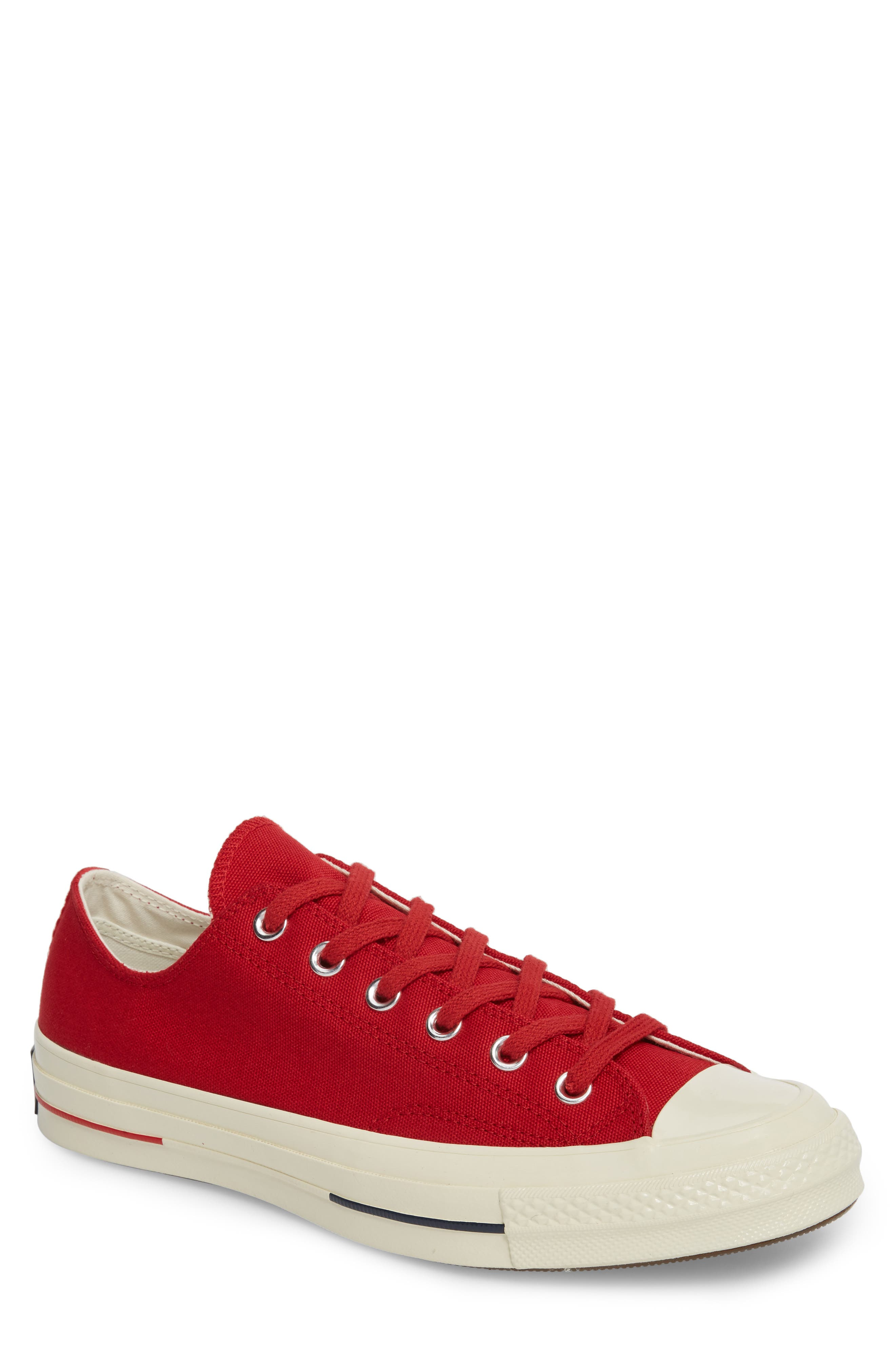 Chuck Taylor<sup>®</sup> All Star<sup>®</sup> '70s Heritage Low Top Sneaker,                             Main thumbnail 1, color,                             Gym Red