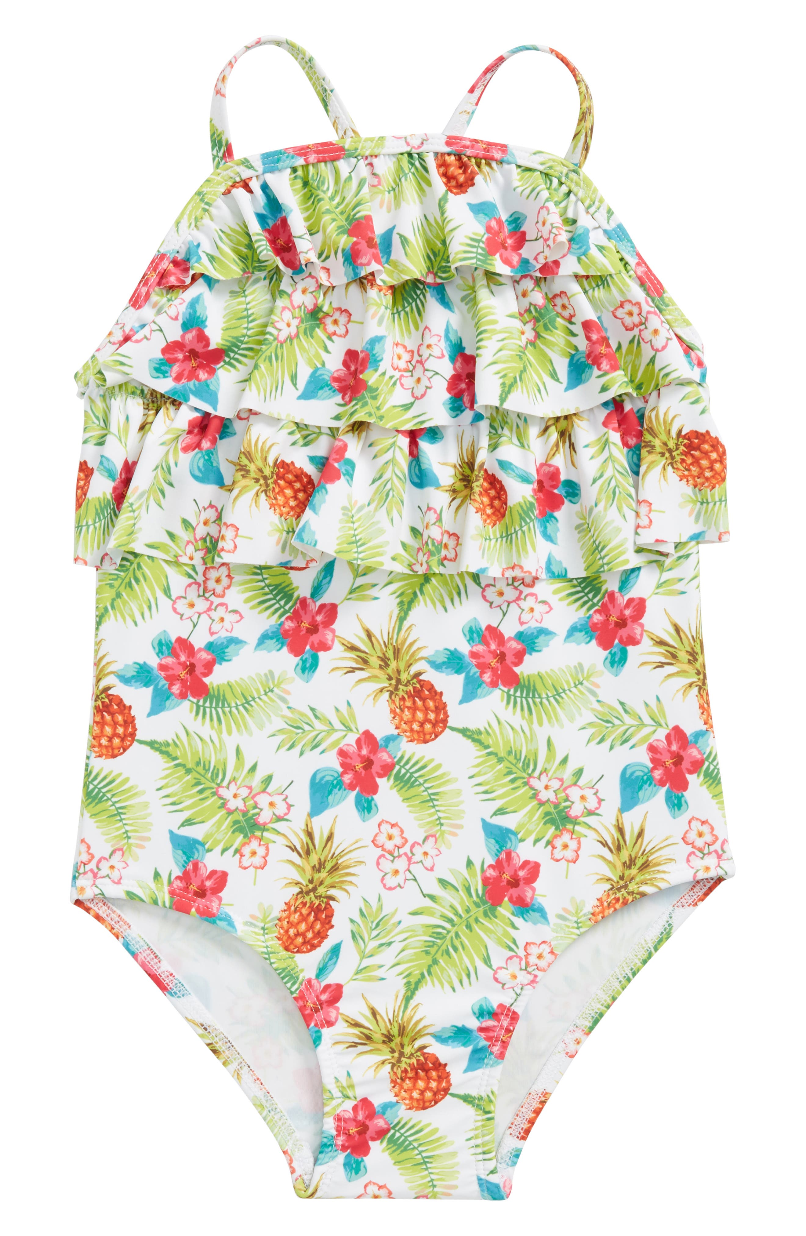 Alternate Image 1 Selected - Sol Swim Tropical Holiday One-Piece Swimsuit (Toddler Girls & Little Girls)