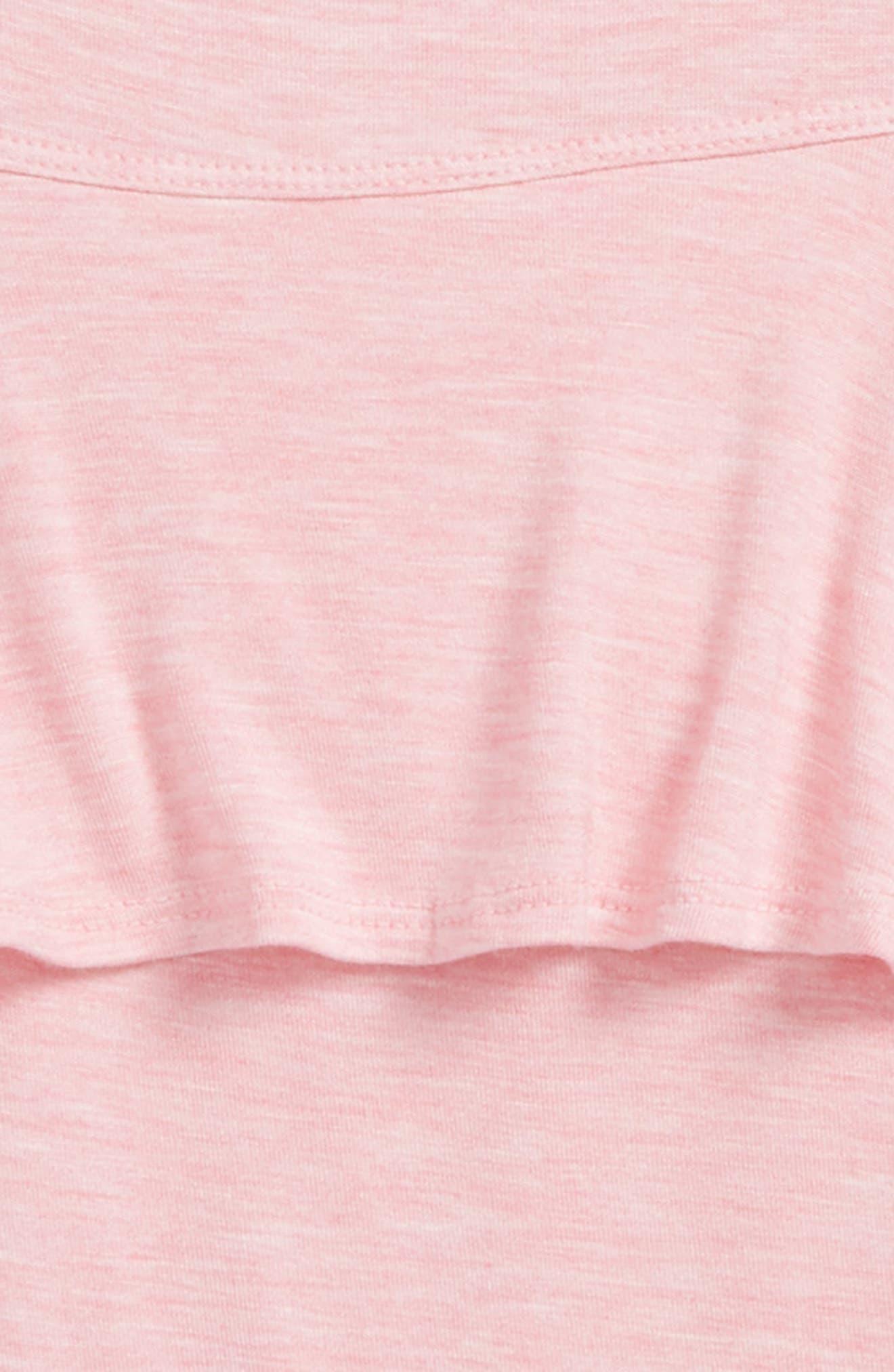 Cold Shoulder Tank,                             Alternate thumbnail 2, color,                             Pink Geranium Heather