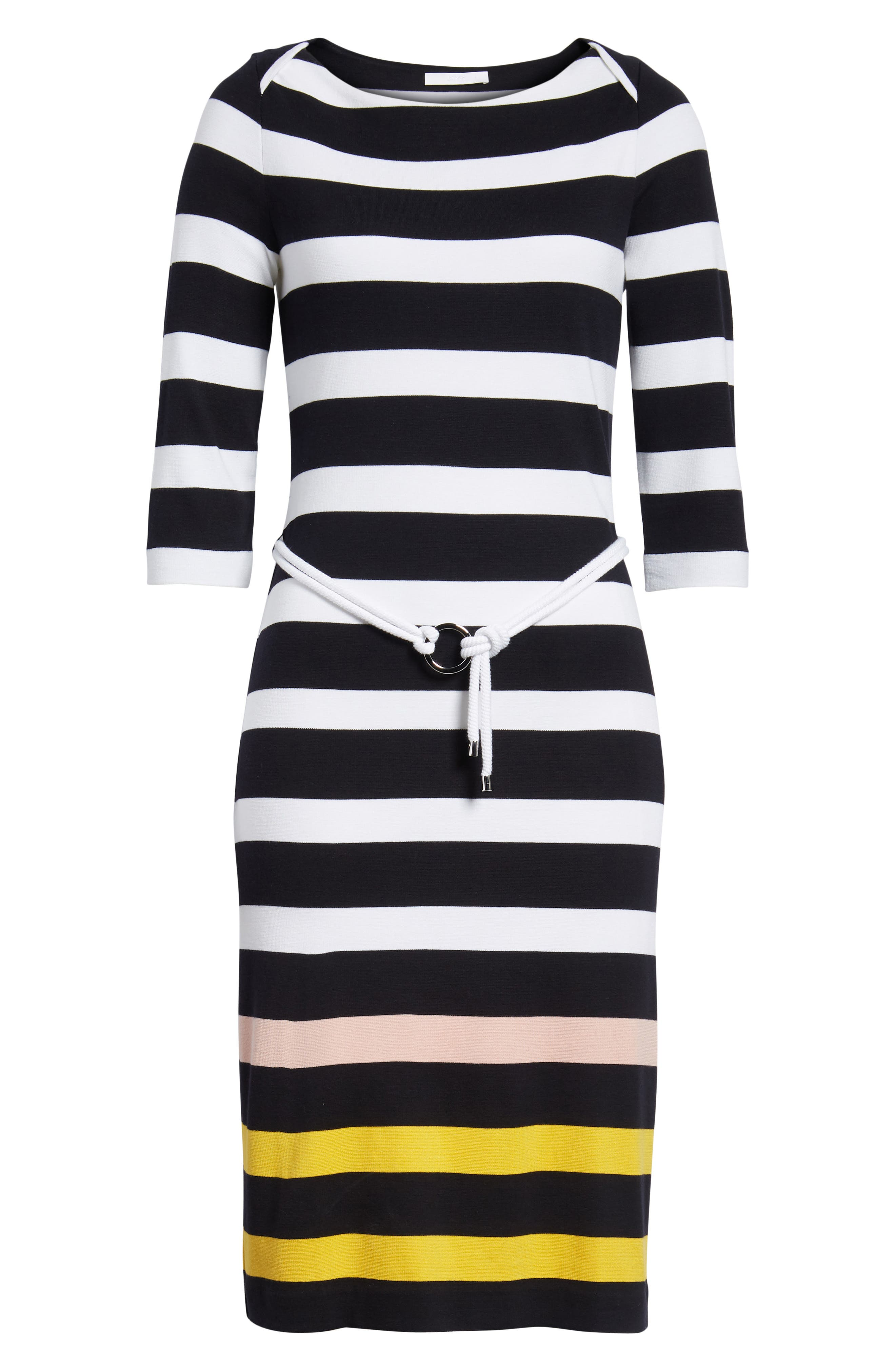 Elsara Stripe Sheath Dress,                             Alternate thumbnail 7, color,                             Navy Fantasy
