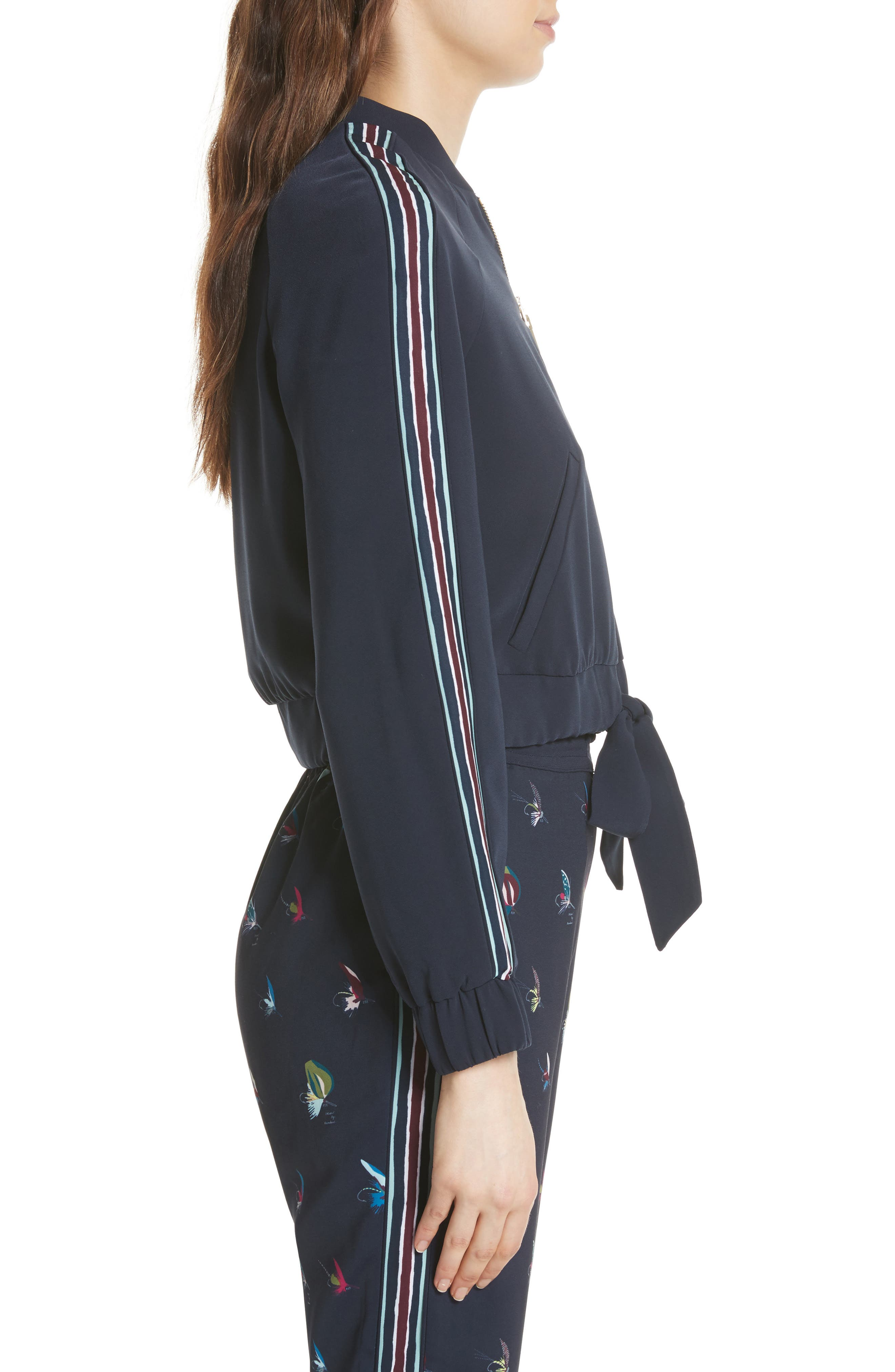 Colour by Numbers Imeelia Track Jacket,                             Alternate thumbnail 3, color,                             Navy