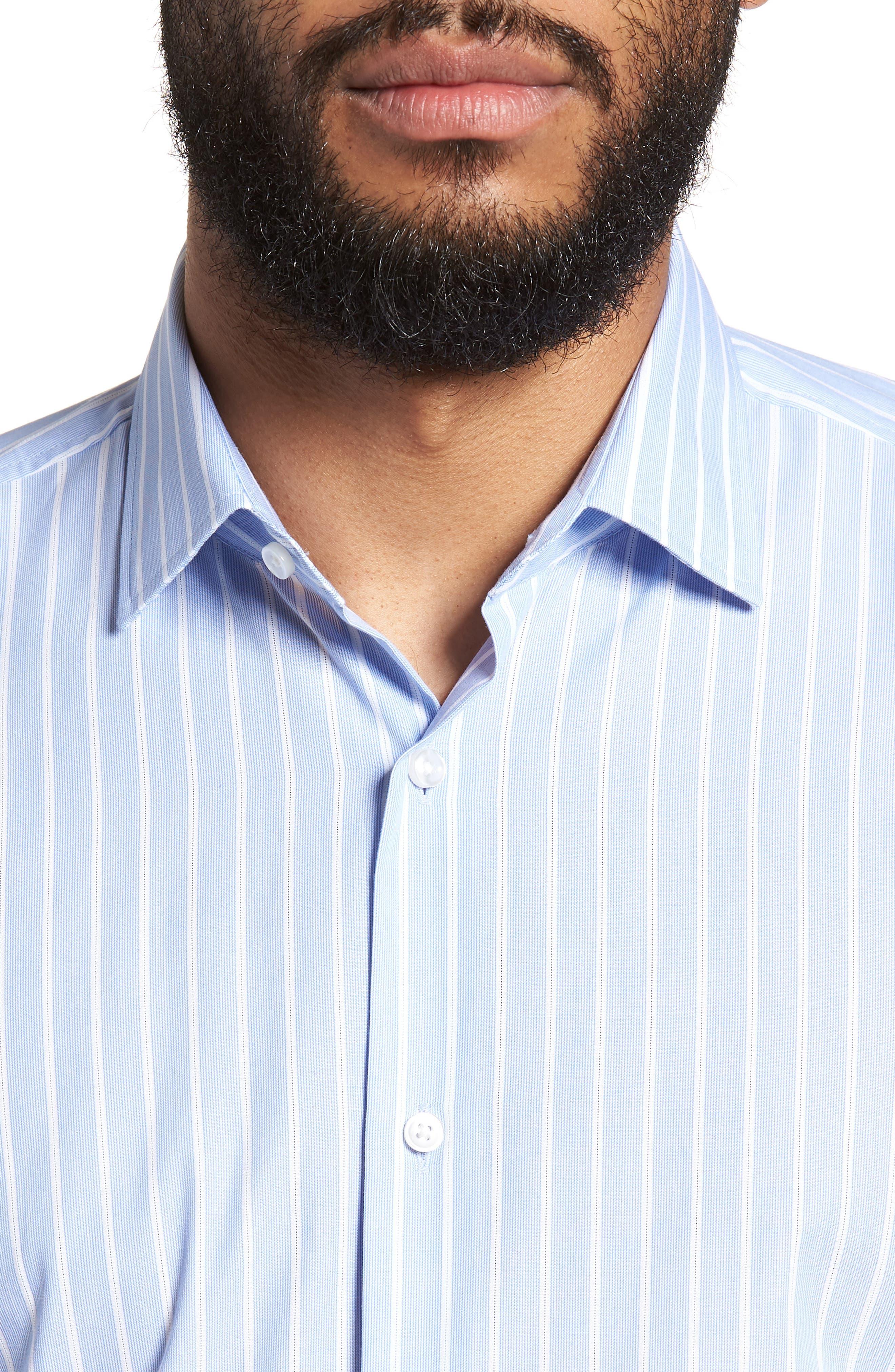 Jenno Slim Fit Stripe Dress Shirt,                             Alternate thumbnail 2, color,                             Blue