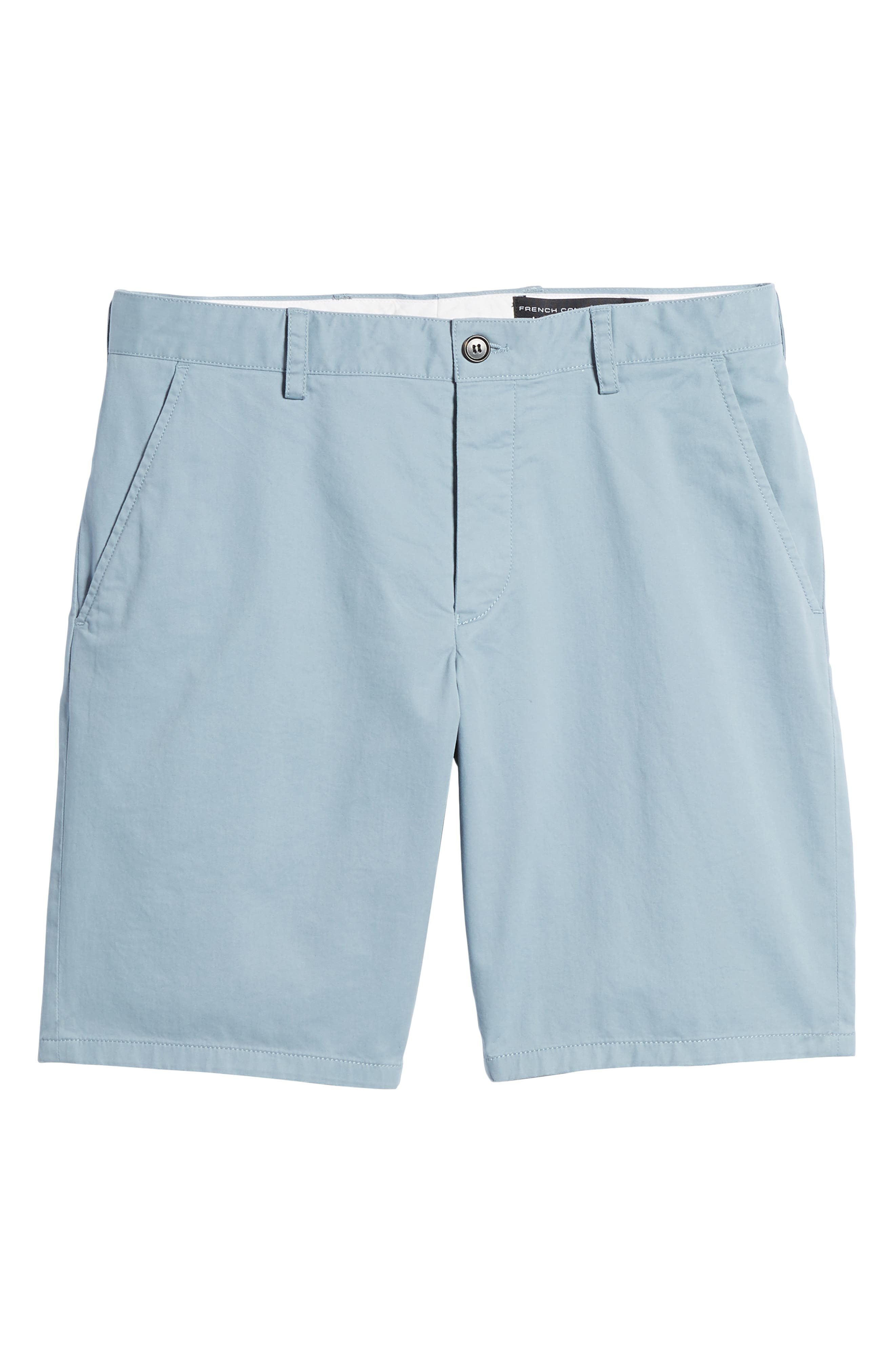 Machine Gun Stretch Cotton Shorts,                             Alternate thumbnail 6, color,                             Ashley Blue