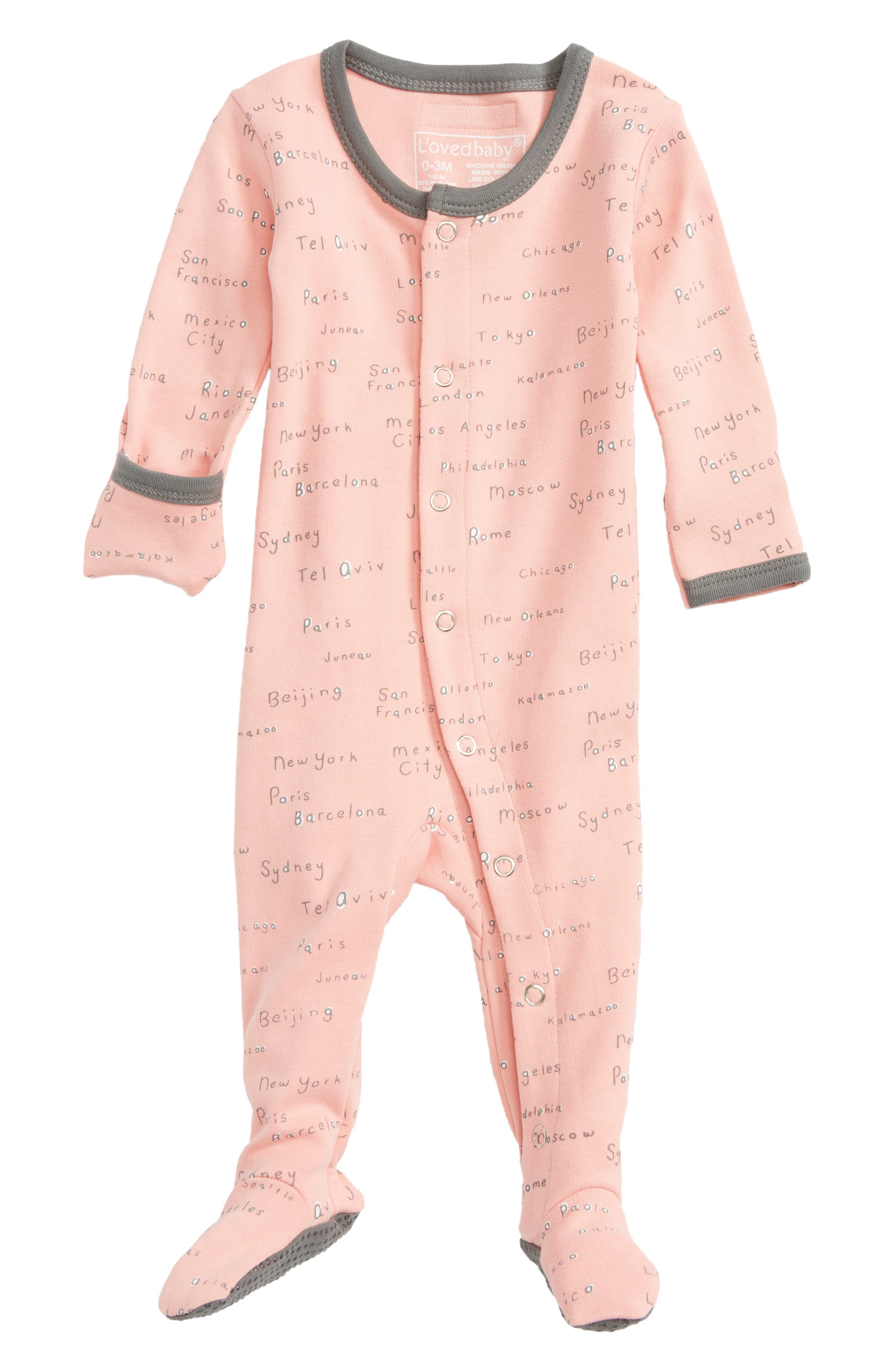 L'ovedbaby City Names Organic Cotton Footie (Baby Girls)