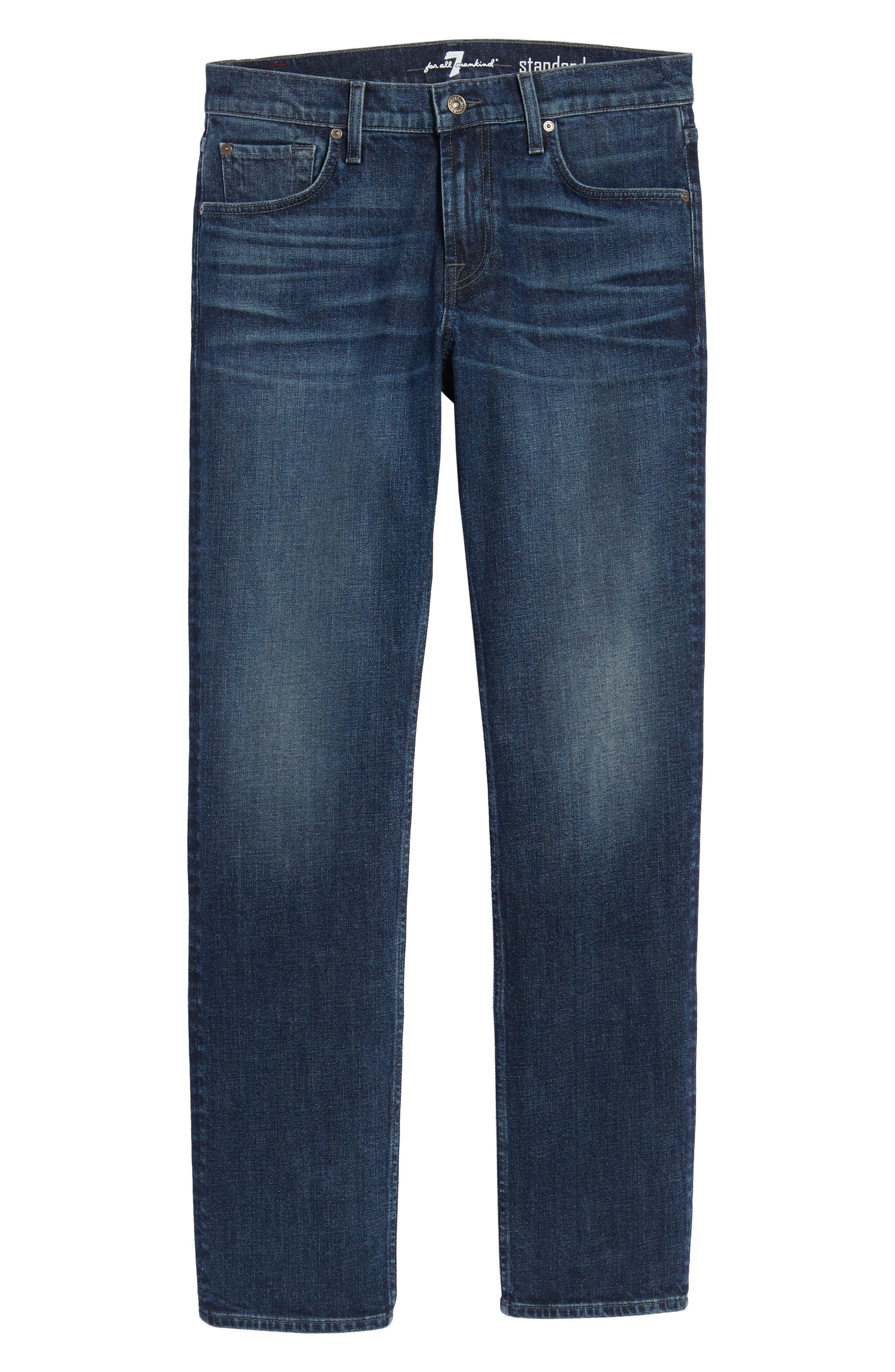 The Standard Straight Leg Jeans,                             Alternate thumbnail 6, color,                             Untouchable