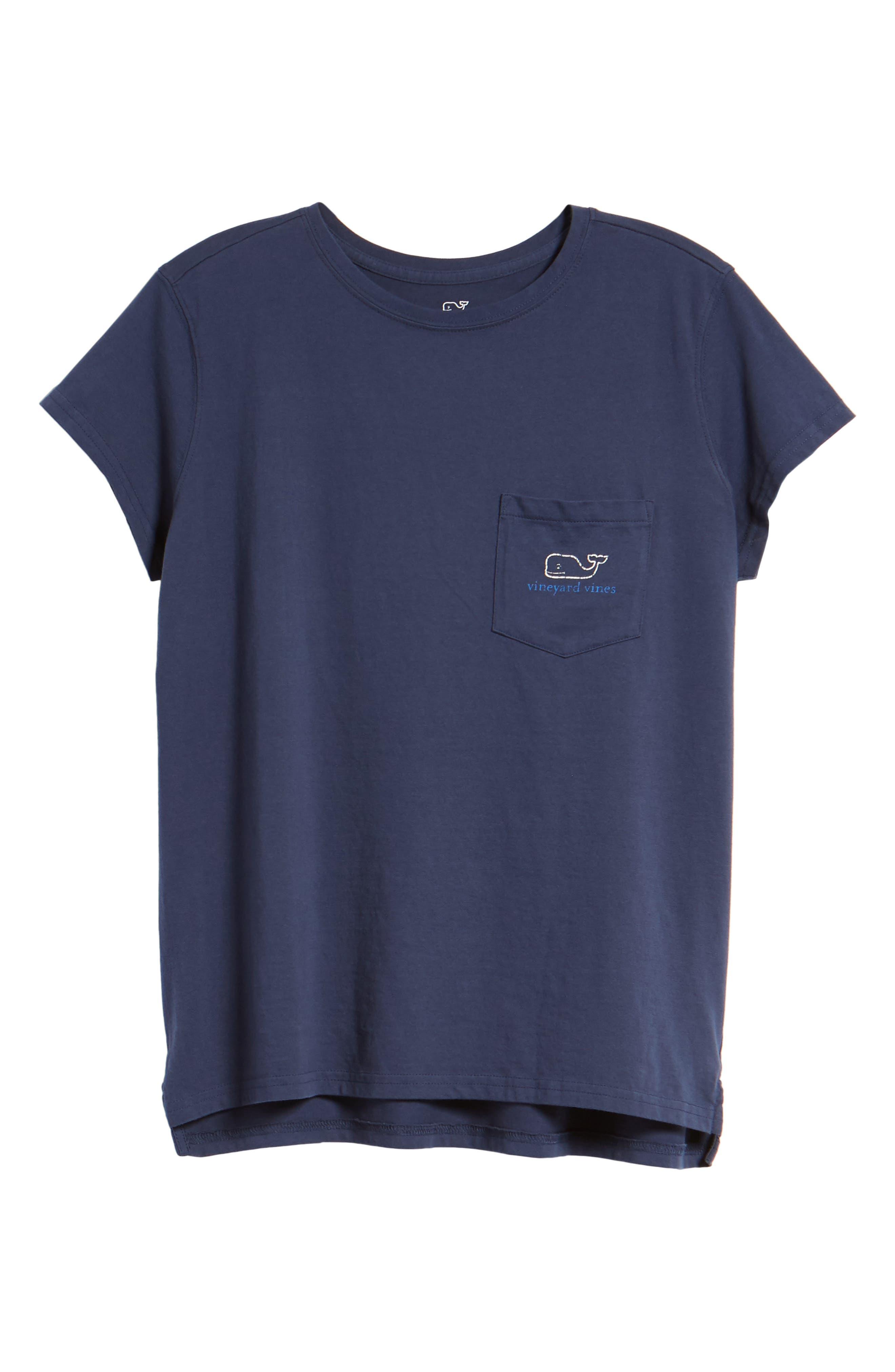 Vintage Whale Relaxed Pocket Tee,                             Alternate thumbnail 7, color,                             Deep Bay