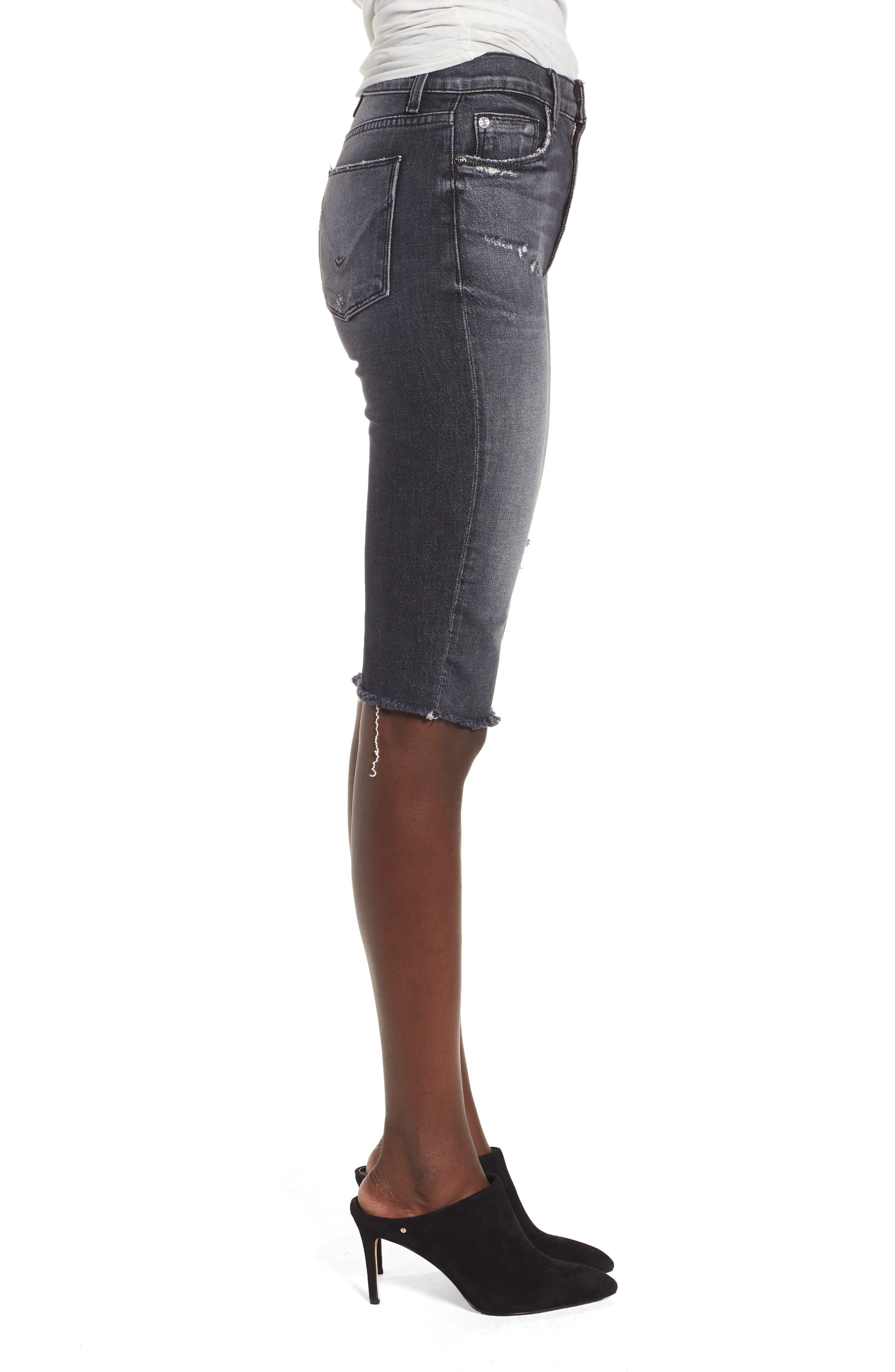 Alternate Image 3  - Hudson Jeans Zoeey High Waist Cutoff Boyfriend Shorts (Malice)