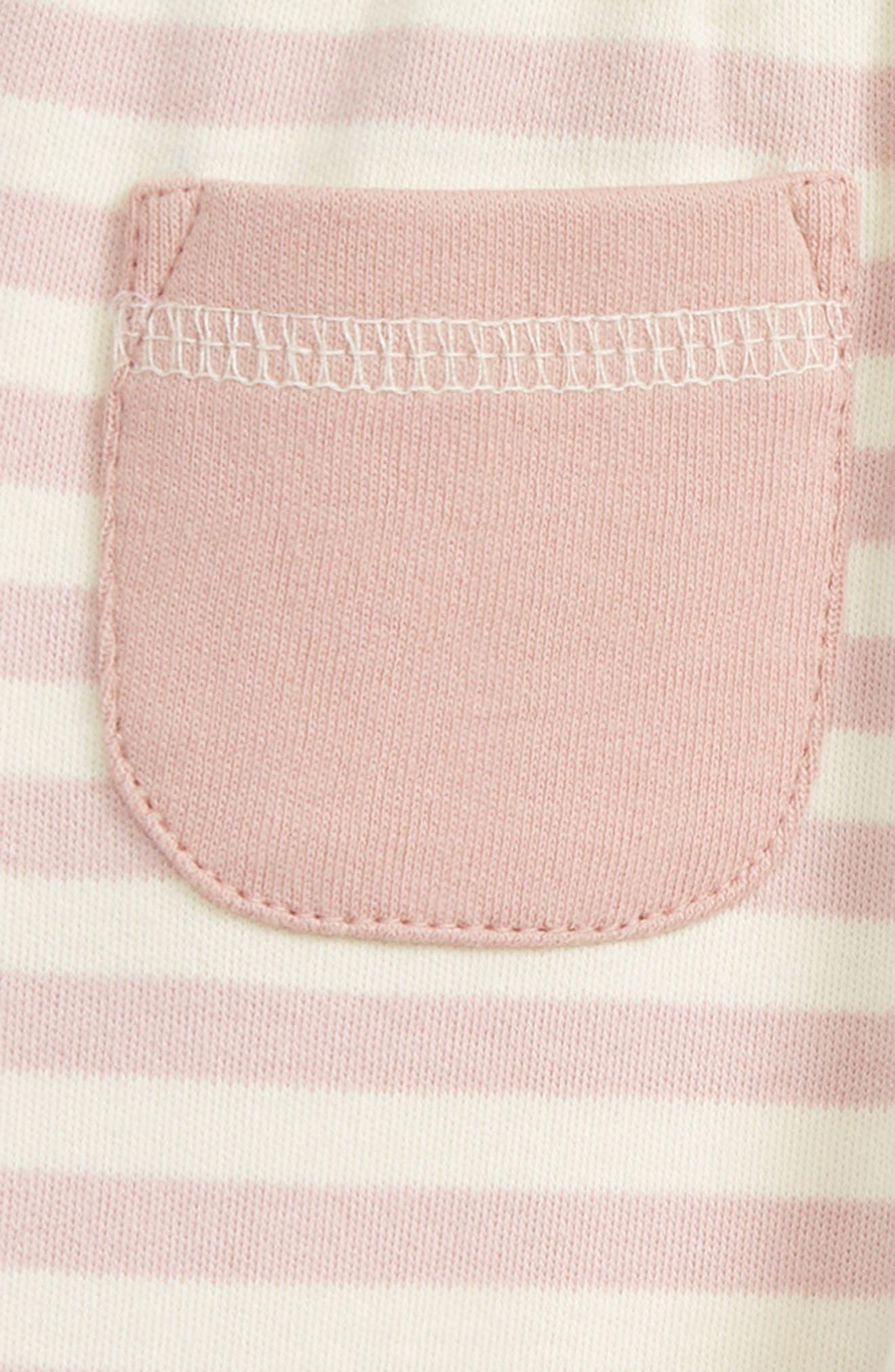 Organic Cotton Jogger Pants,                             Alternate thumbnail 3, color,                             Mauve/ Beige