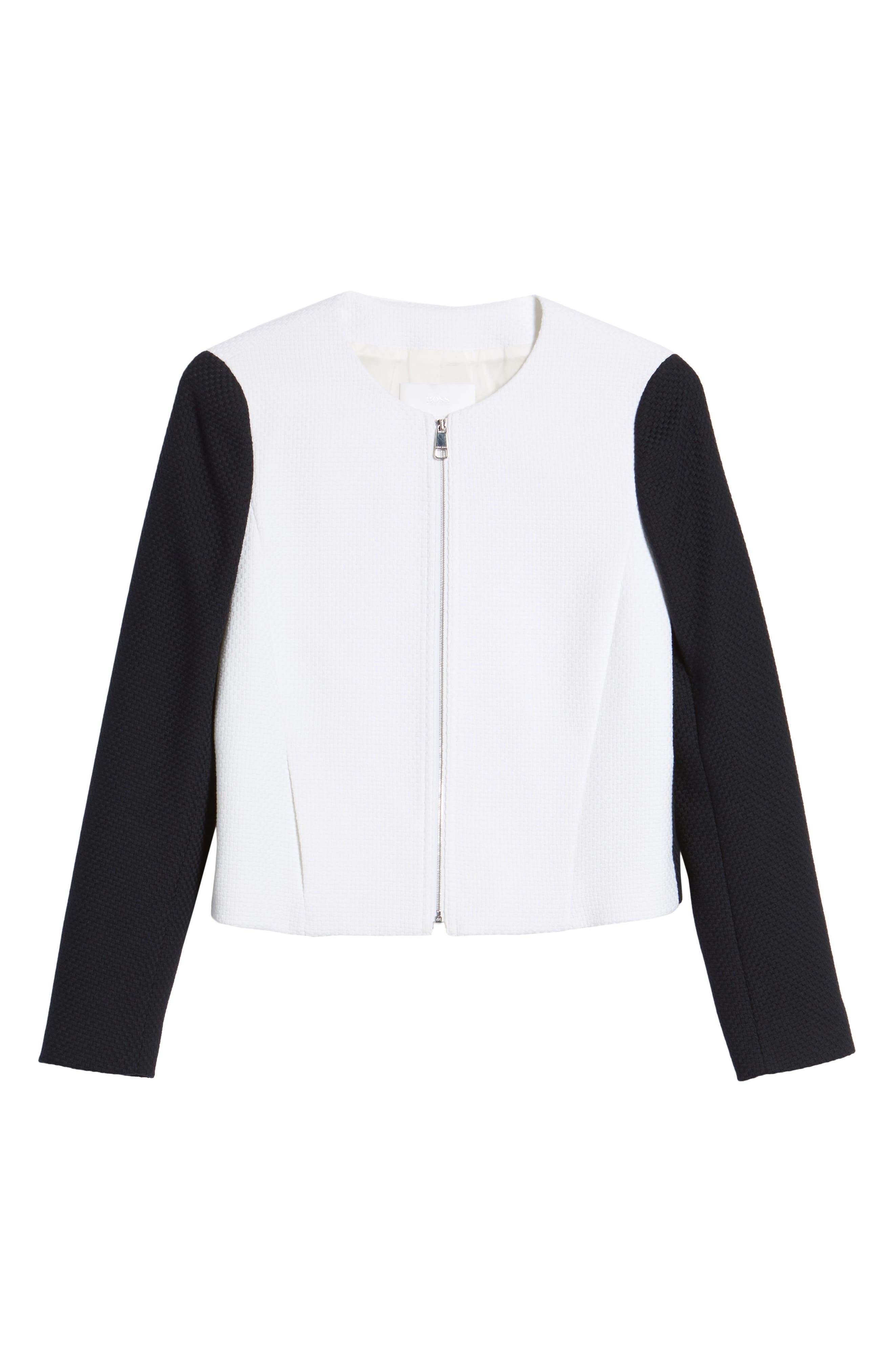 Alternate Image 6  - BOSS Coralie Colorblock Jacket