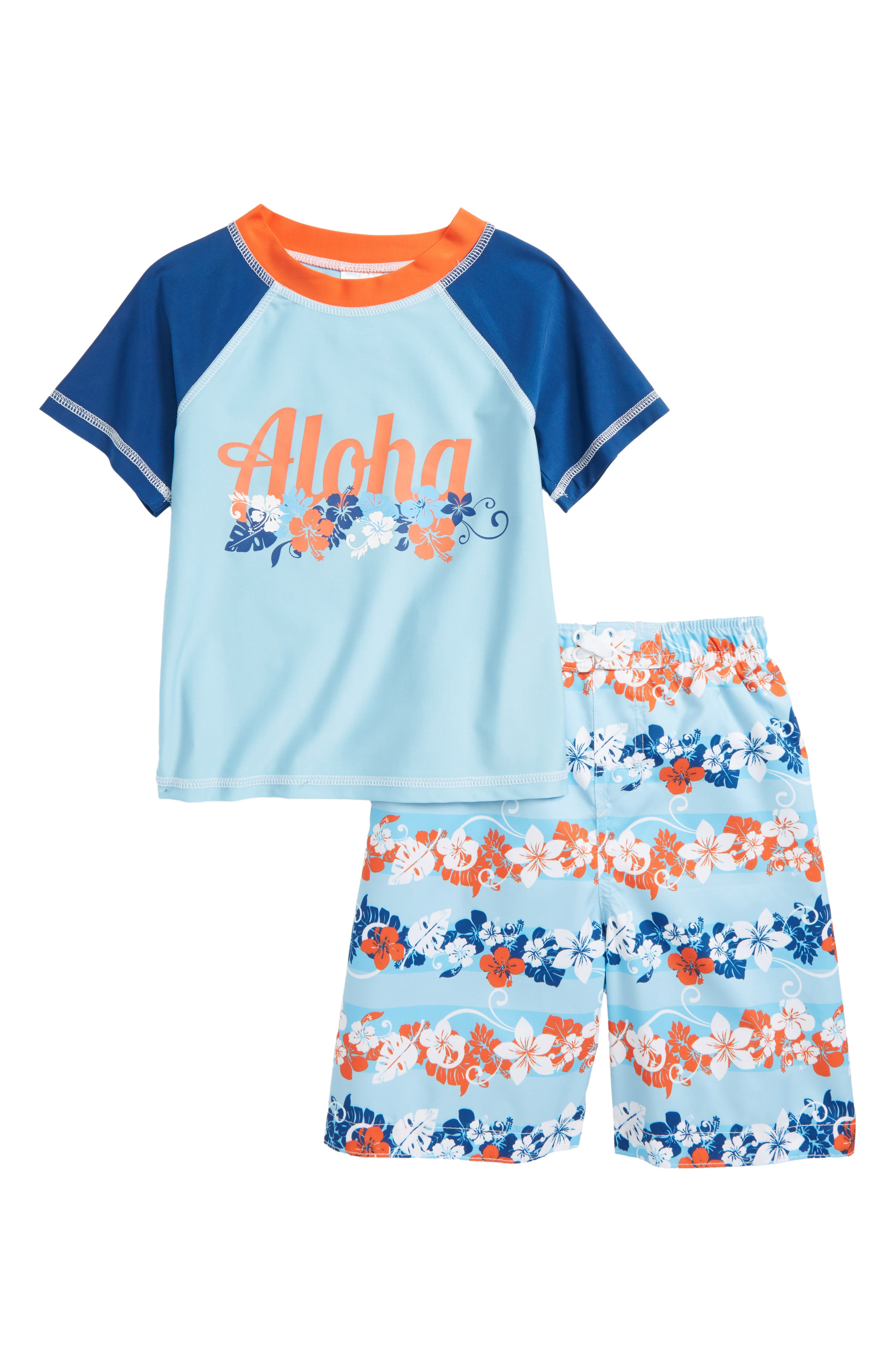 Sol Swim Under The Sea Two-Piece Rashguard Swimsuit (Toddler Boys & Little Boys)