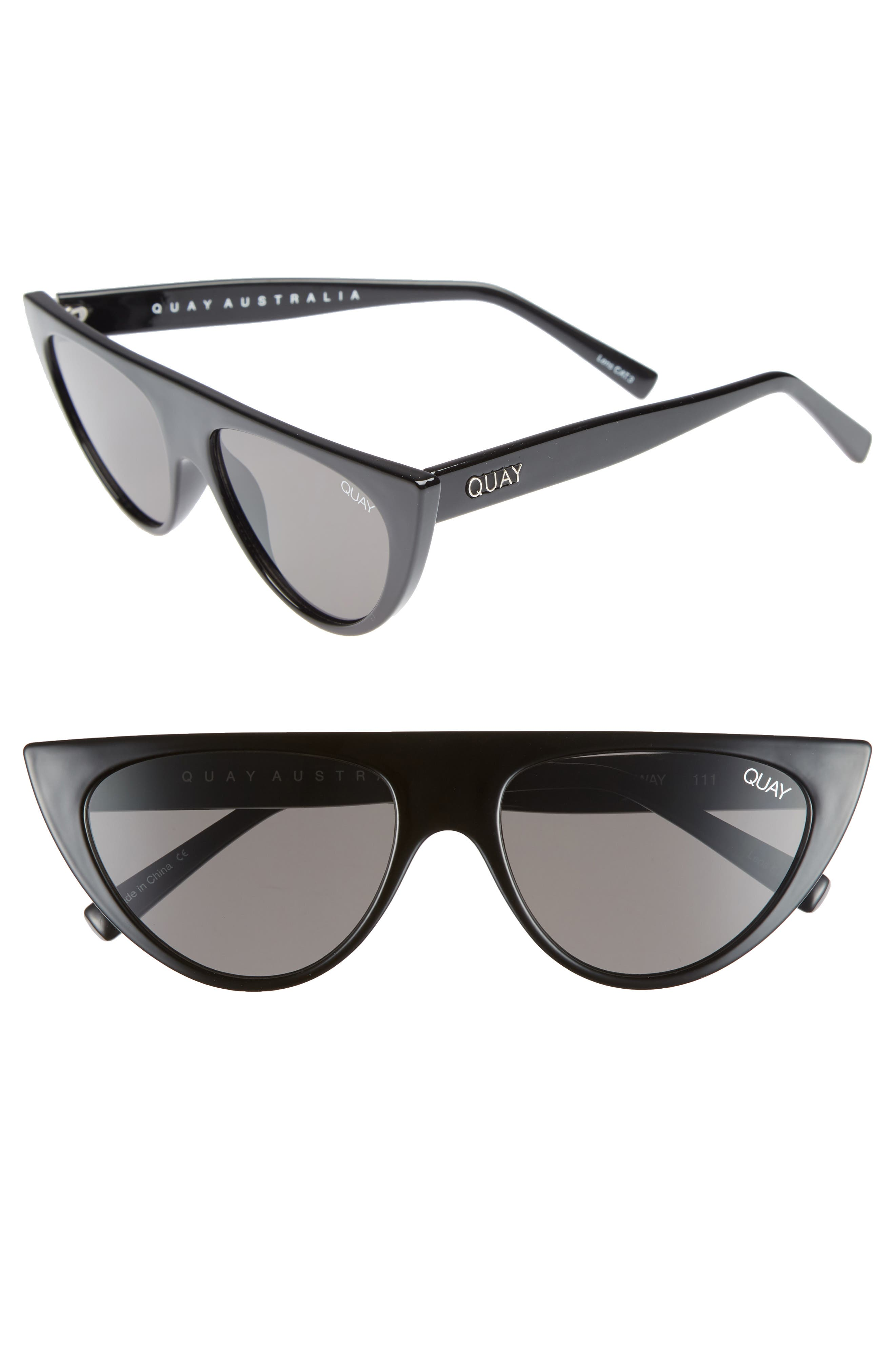 Run Away 56mm Shield Sunglasses,                             Main thumbnail 1, color,                             Black/ Smoke