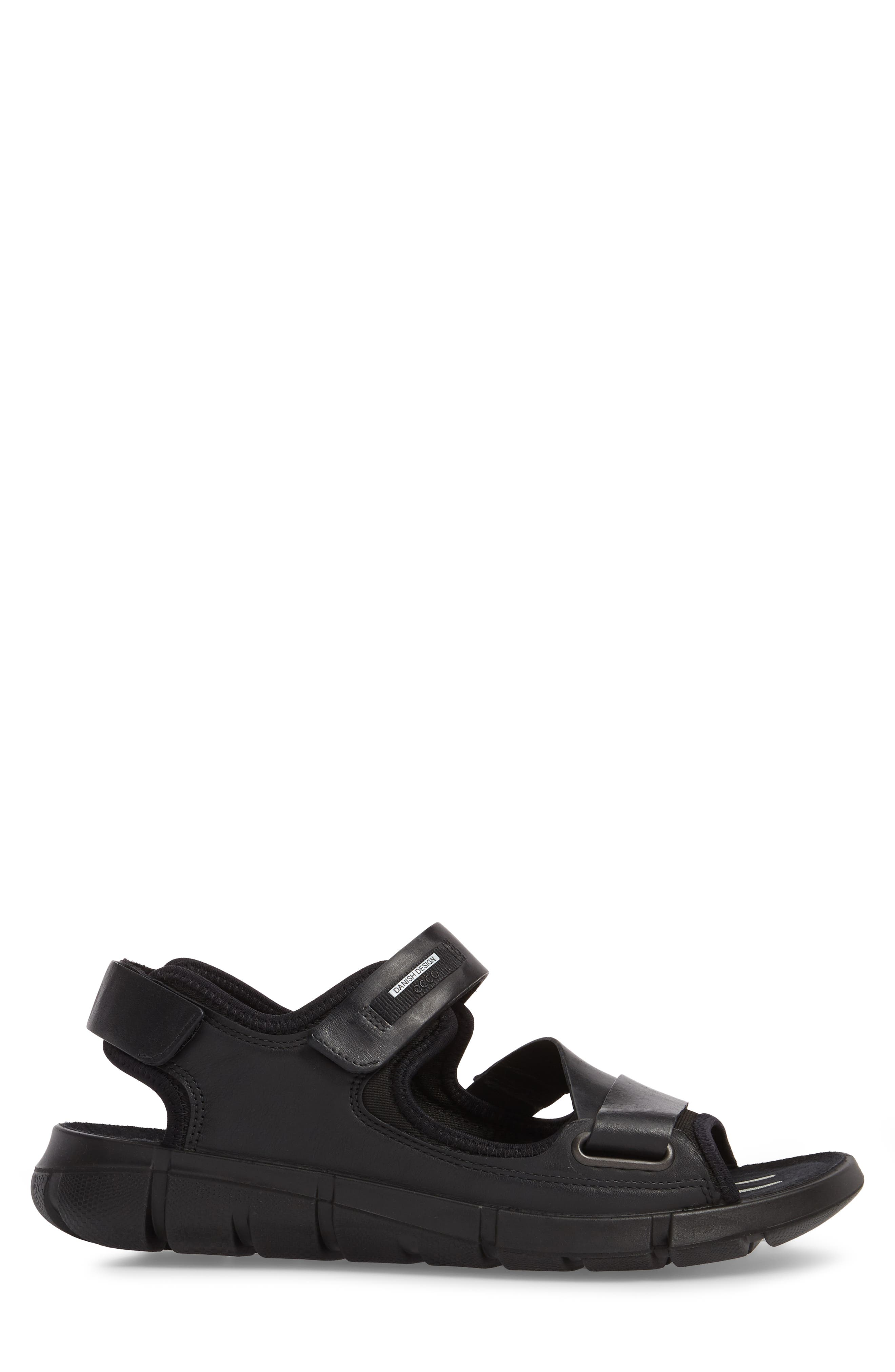 Intrinsic 2 Sandal,                             Alternate thumbnail 3, color,                             Black Leather