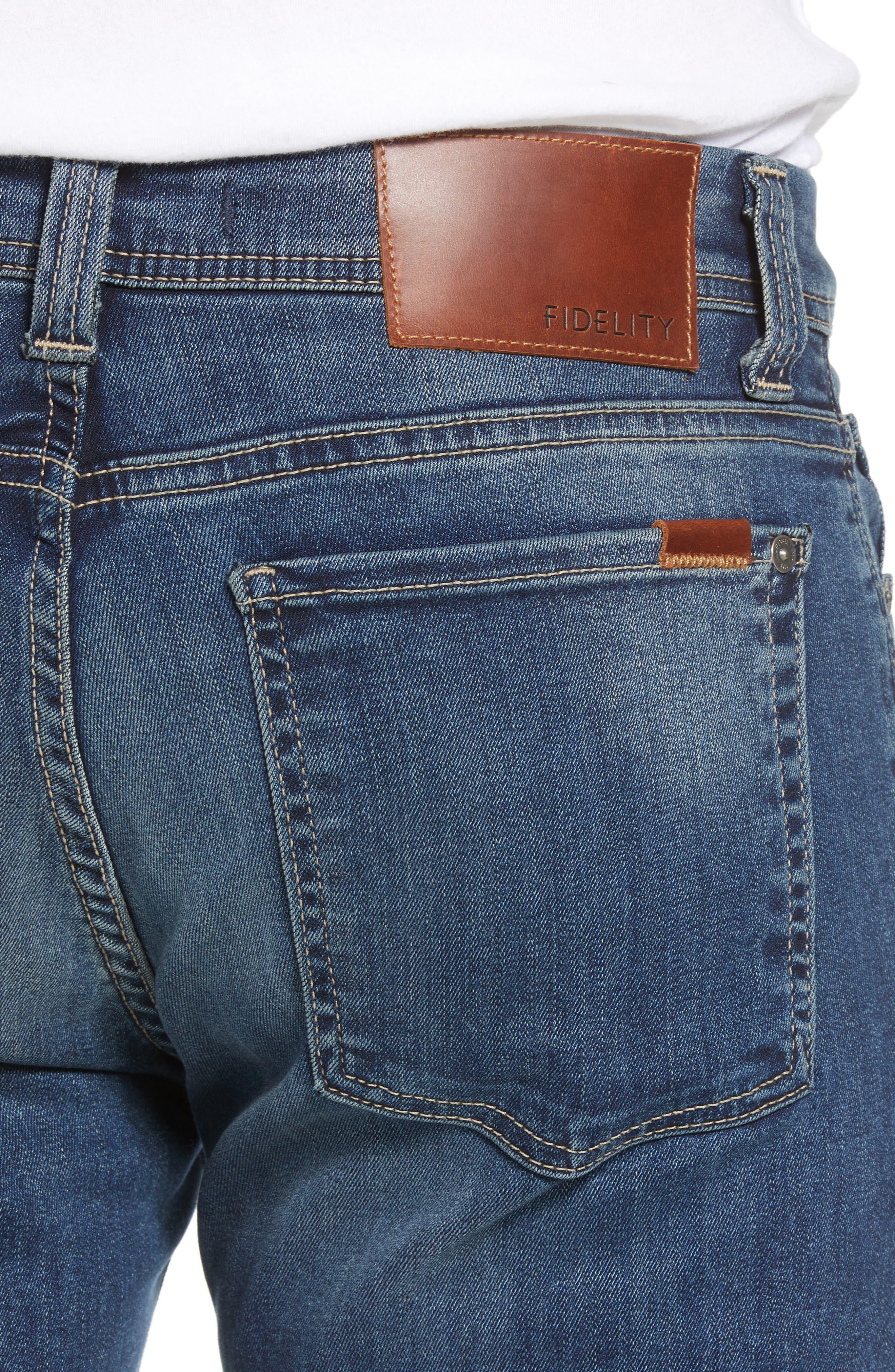 Jimmy Slim Straight Leg Jeans,                             Alternate thumbnail 4, color,                             Satori Blue