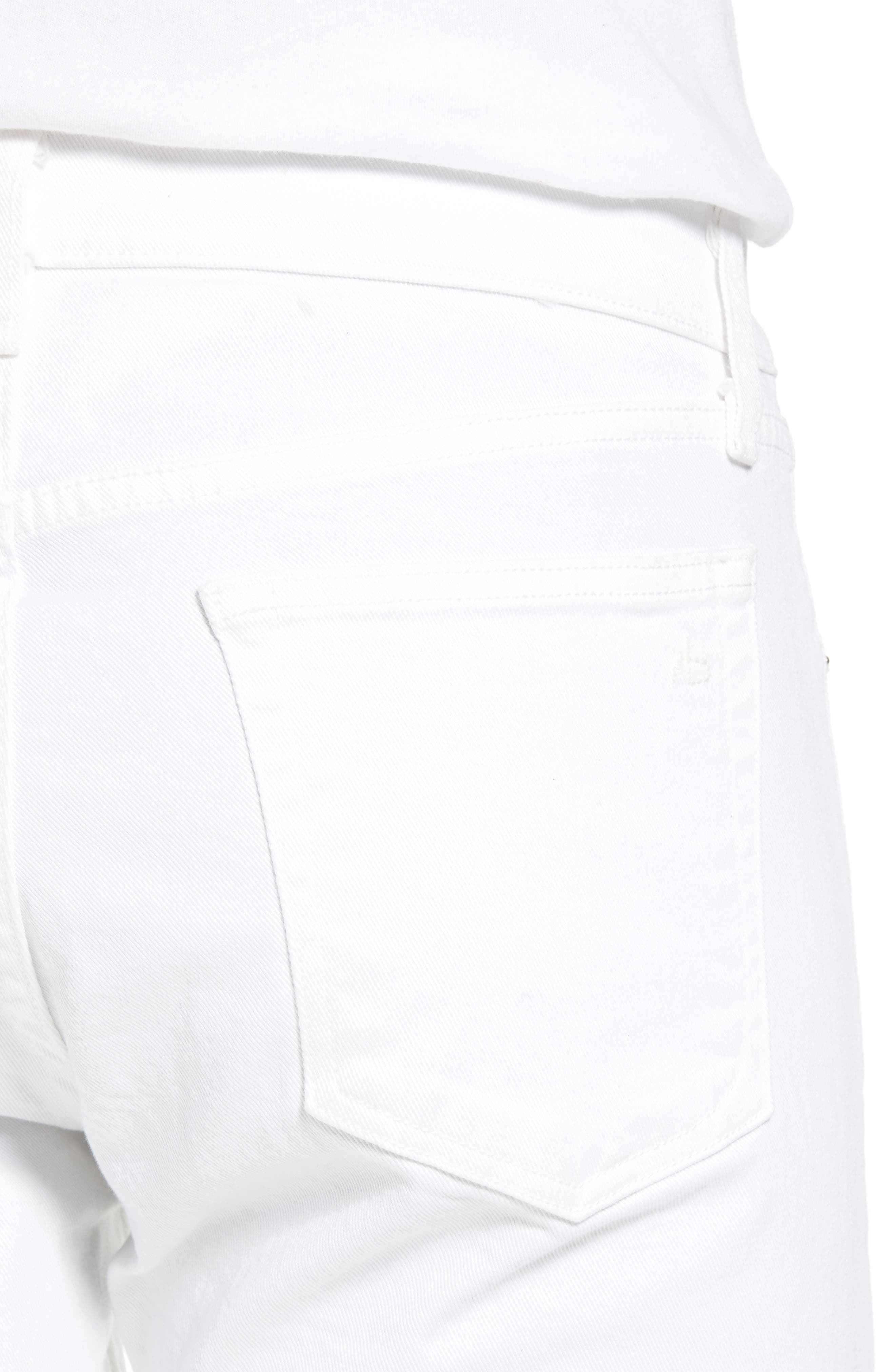 Fit 1 Skinny Fit Jeans,                             Alternate thumbnail 4, color,                             White W/ Holes