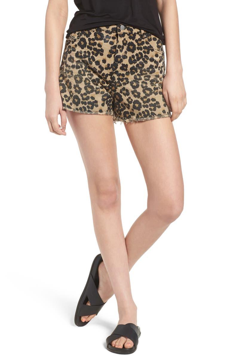 Animal Print Cutoff Shorts