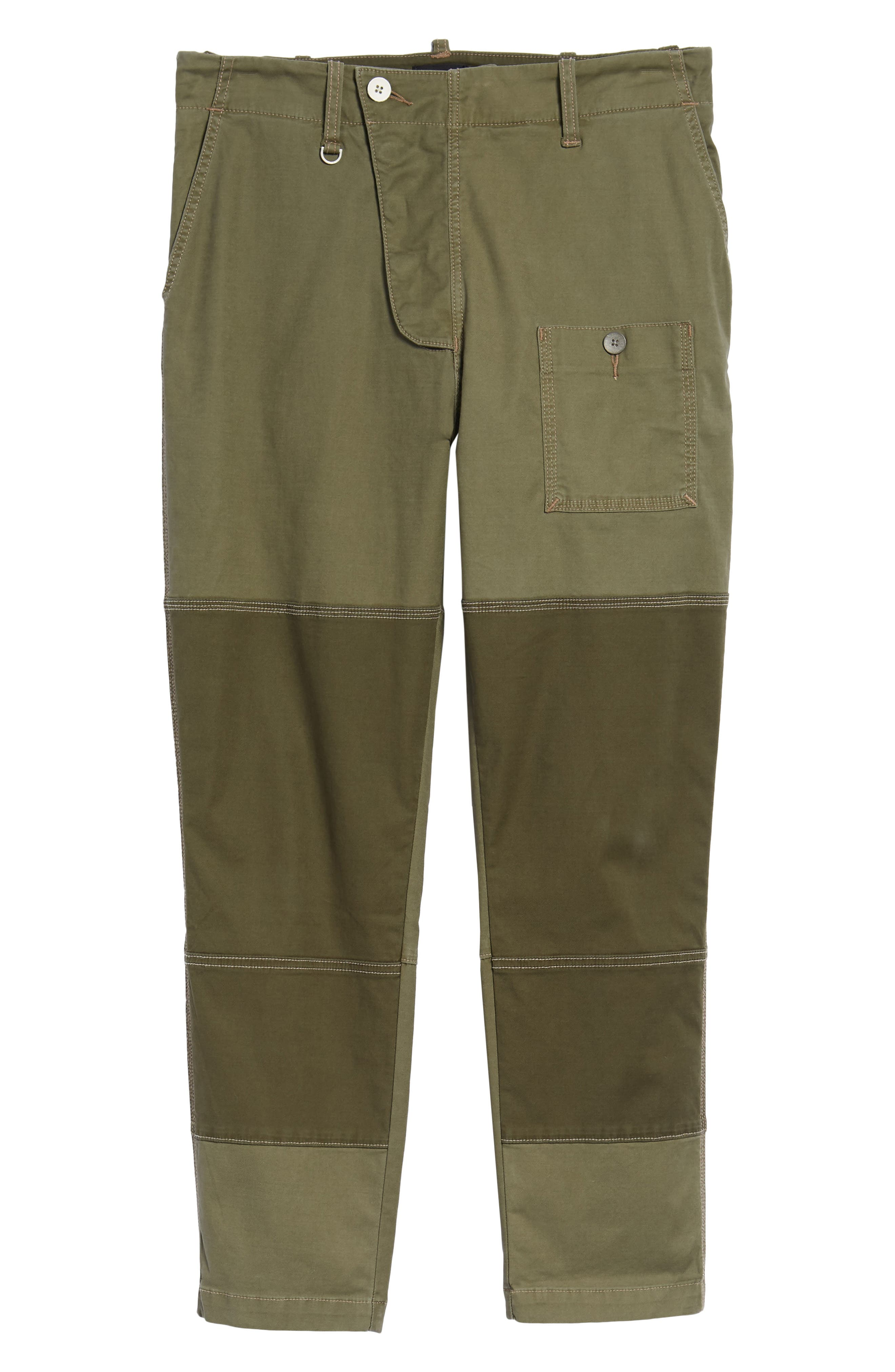 Slouchy Slim Fit Cargo Pants,                             Alternate thumbnail 6, color,                             Army Green 1