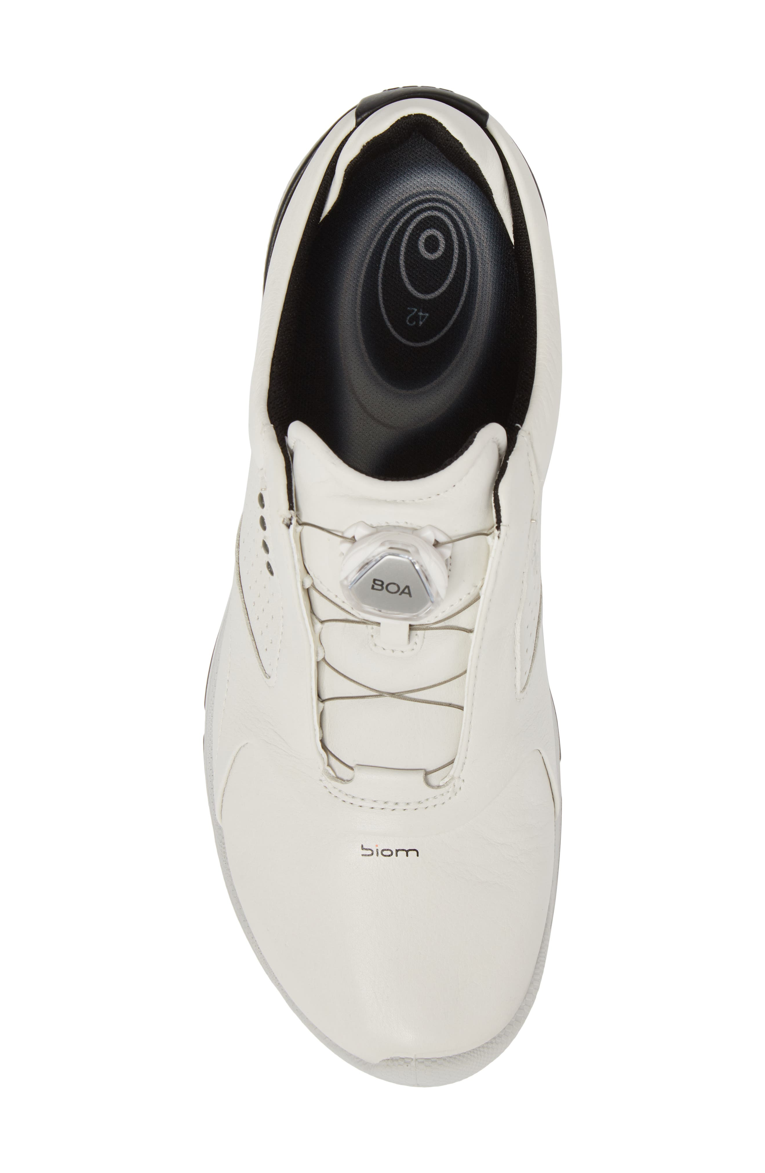 BIOM 2 BOA Gore-Tex<sup>®</sup> Golf Shoe,                             Alternate thumbnail 5, color,                             White/ Black Leather