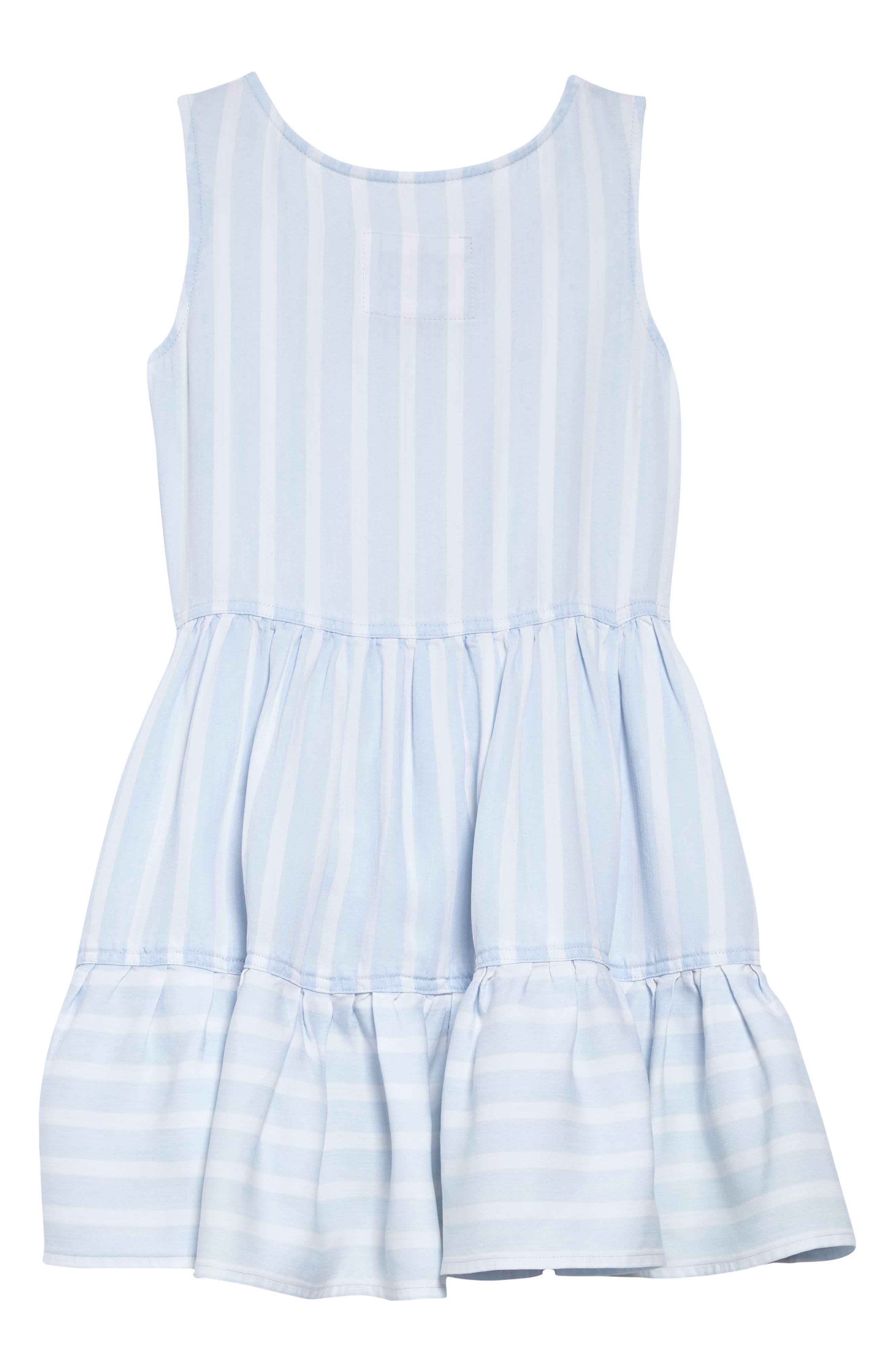 Katie Stripe Ruffle Hem Dress,                             Alternate thumbnail 2, color,                             Hampshire Stripe