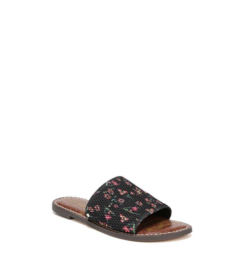 27b6b070140 Sam Edelman Gio Slide Sandal In Black Floral Print Fabric