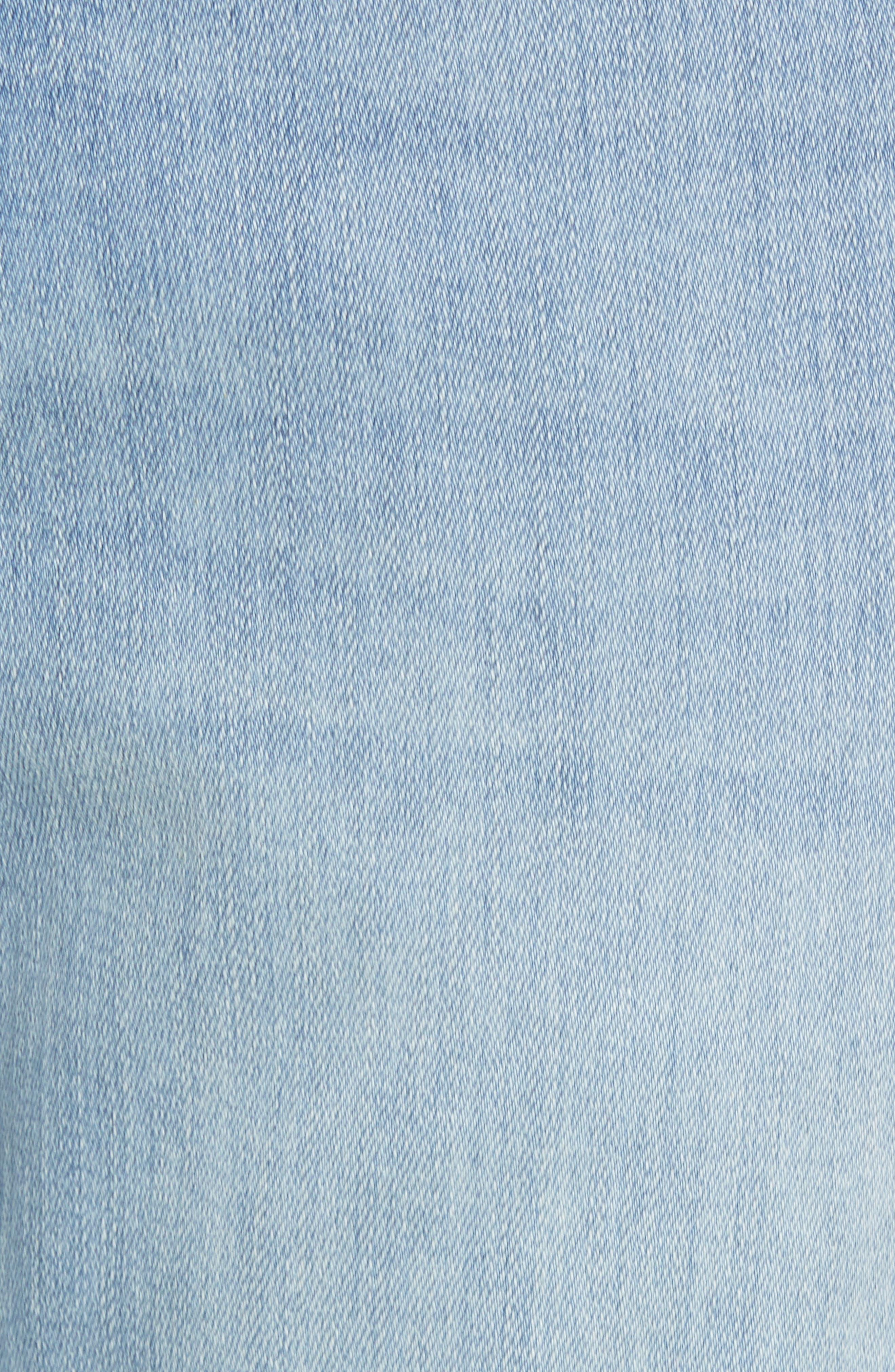 Jimmy Slim Straight Leg Jeans,                             Alternate thumbnail 5, color,                             Abbey Blue