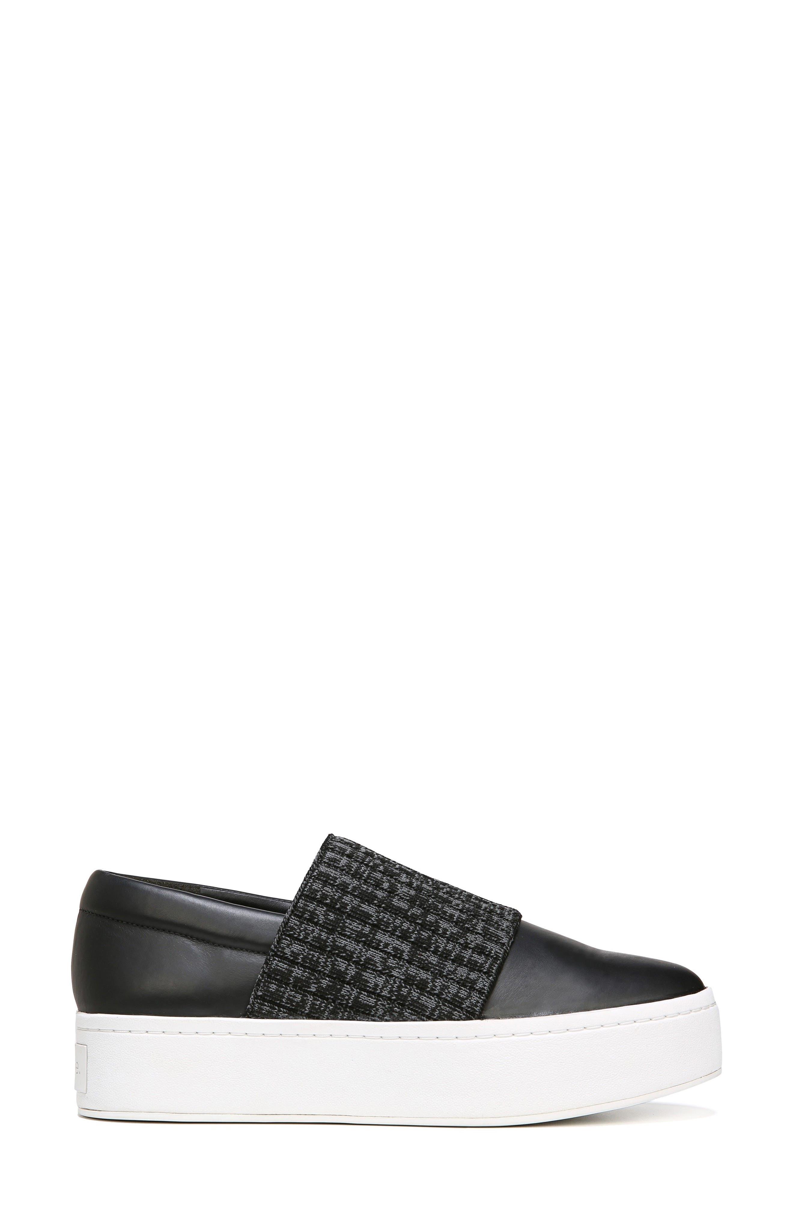 Weadon Slip-On Sneaker,                             Alternate thumbnail 3, color,                             Black Siviglia Calf