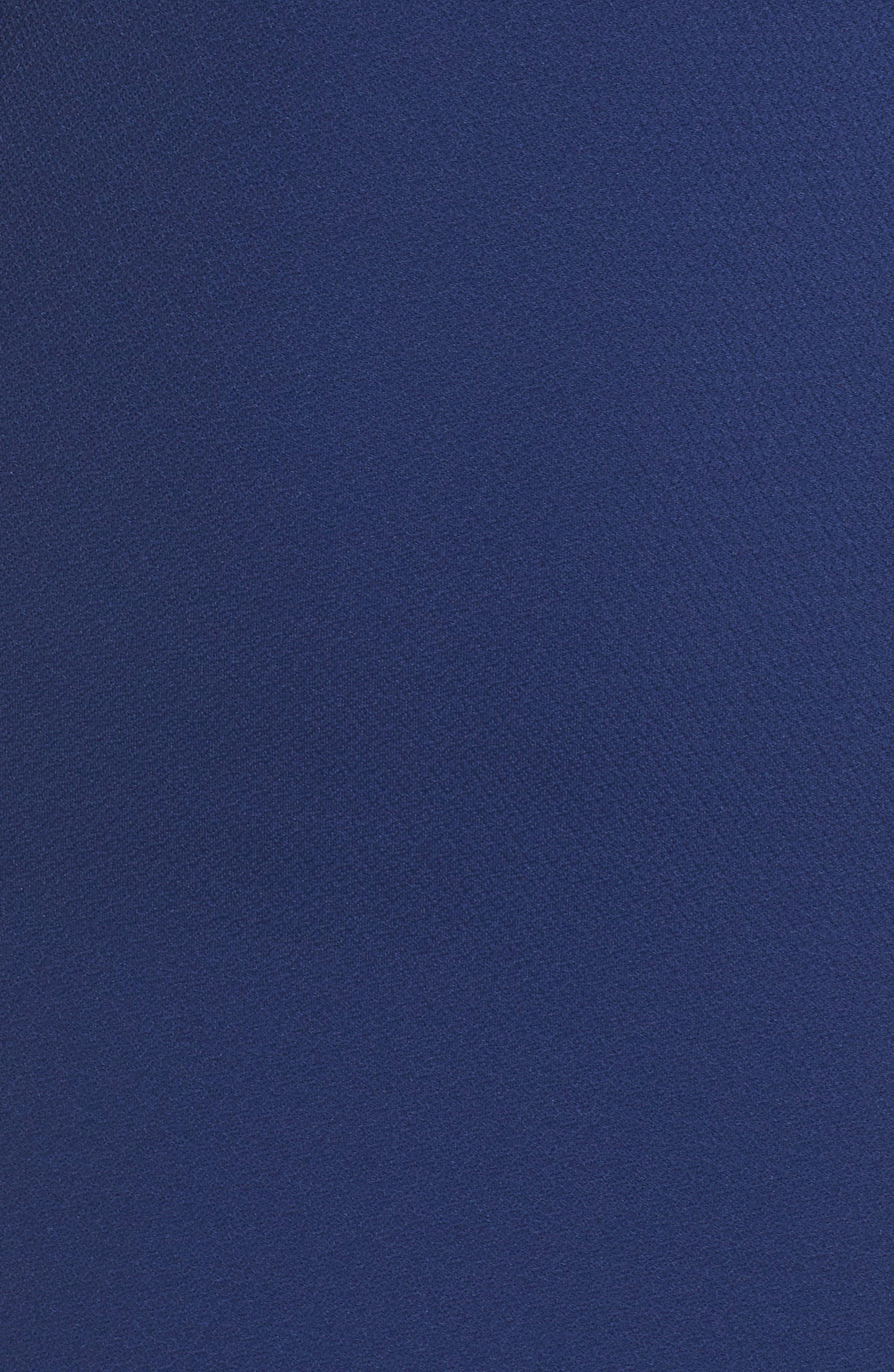 Shell Beach Bell Sleeve Halter Dress,                             Alternate thumbnail 5, color,                             Bondi Blue