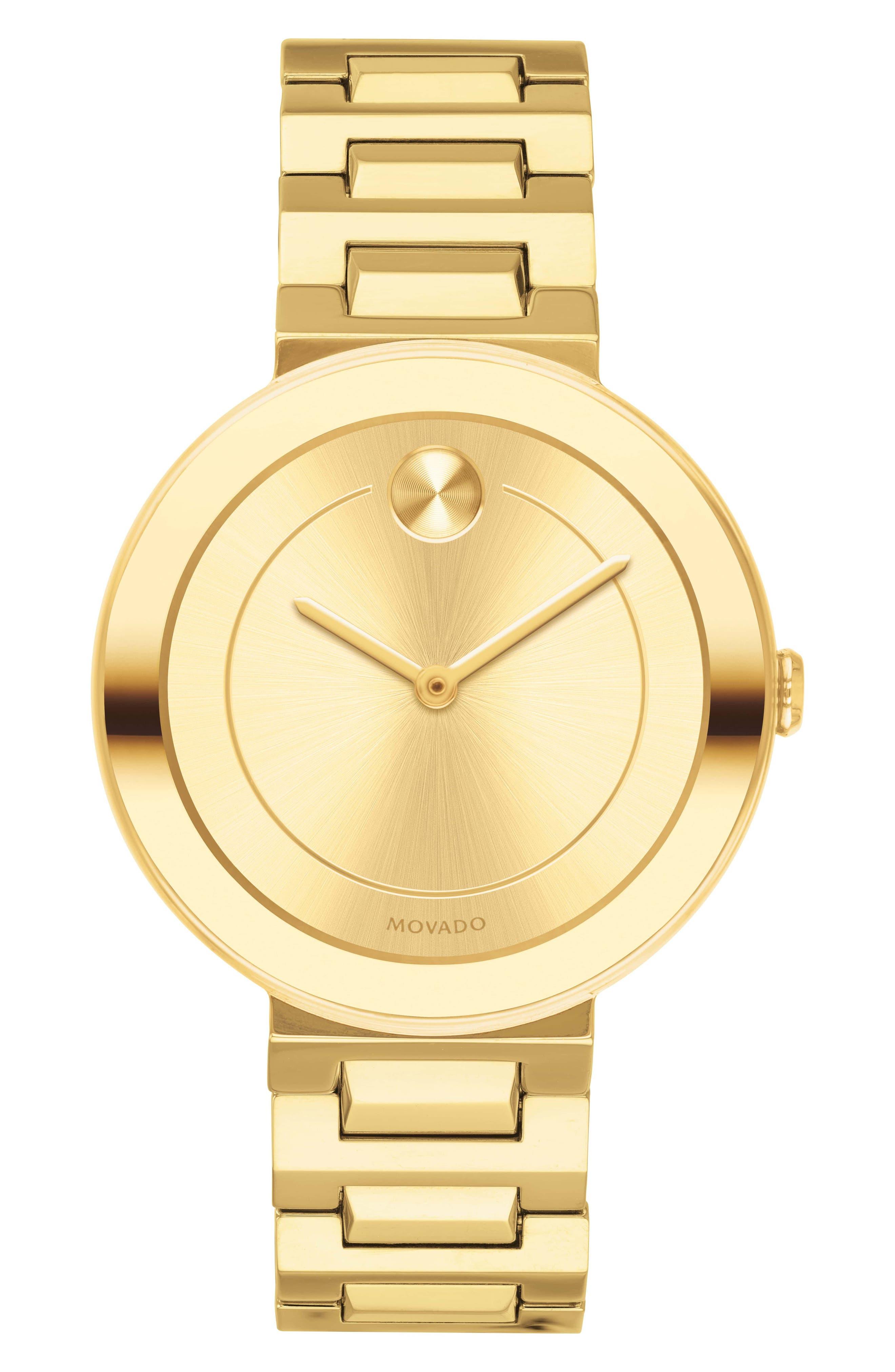 Bold Bracelet Watch, 34mm,                             Main thumbnail 1, color,                             Gold