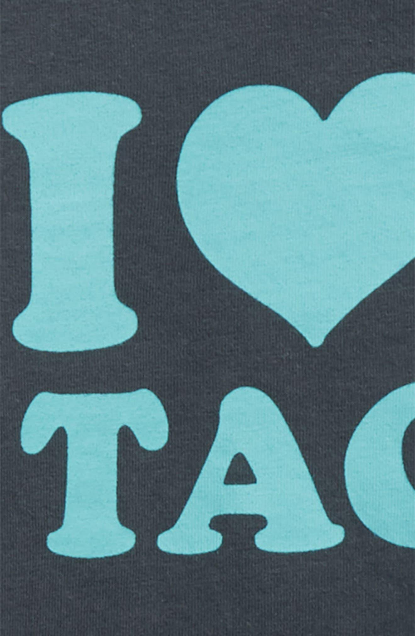 I Love Tacos T-Shirt,                             Alternate thumbnail 2, color,                             Antra