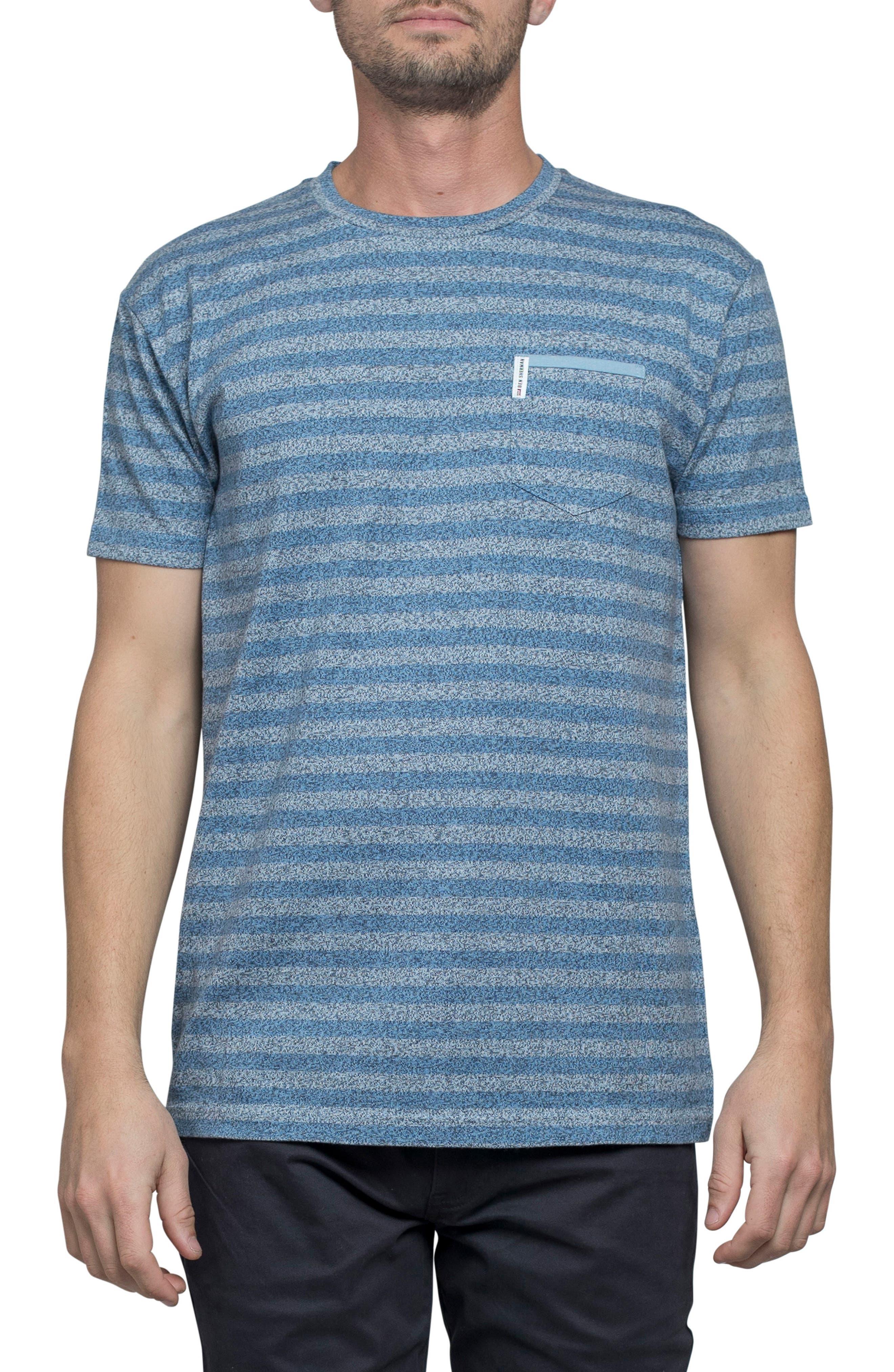 Stripe Crewneck T-Shirt,                         Main,                         color, Off White