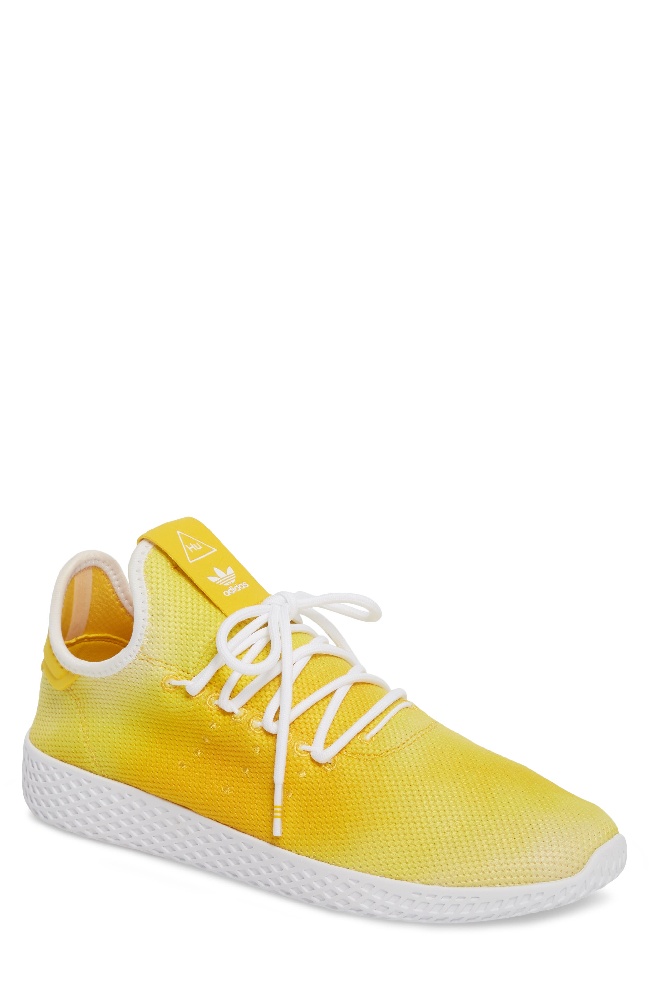 Pharrell Williams Tennis Hu Sneaker,                             Main thumbnail 1, color,                             Yellow/ White