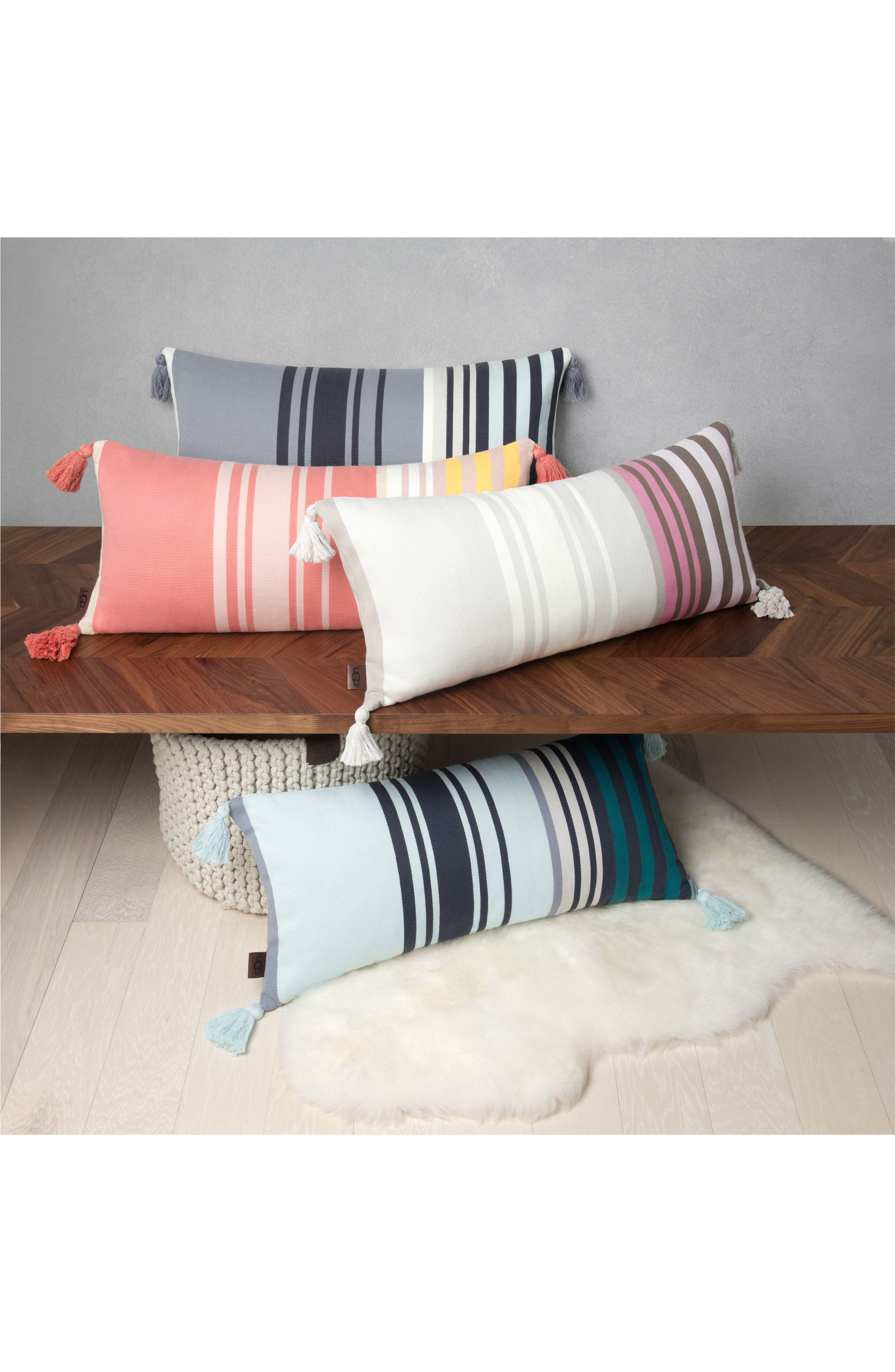 Alternate Image 4  - UGG® Hammond Stripe Pillow