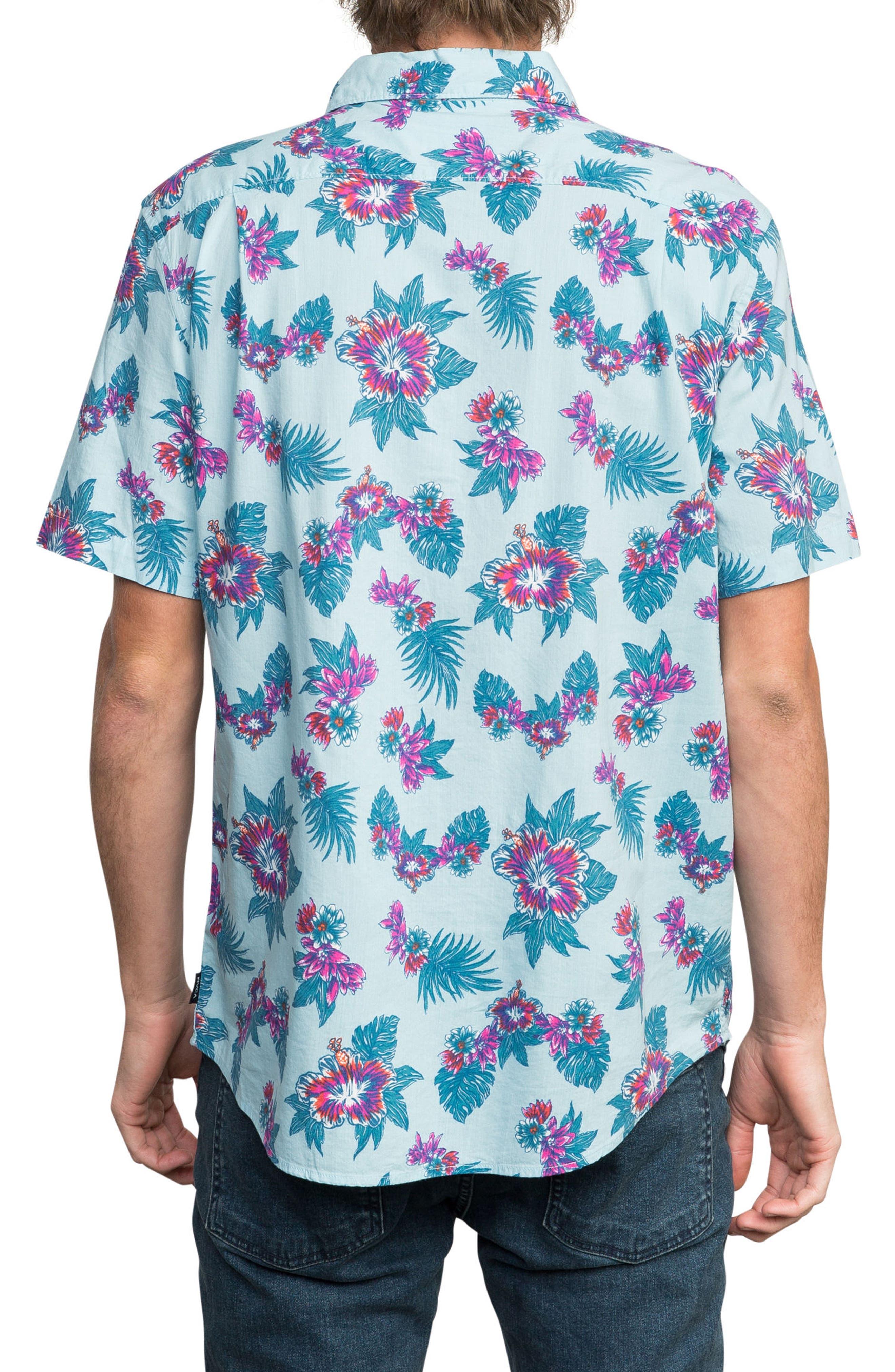 McMillan Floral Woven Shirt,                             Alternate thumbnail 2, color,                             Blue Floral