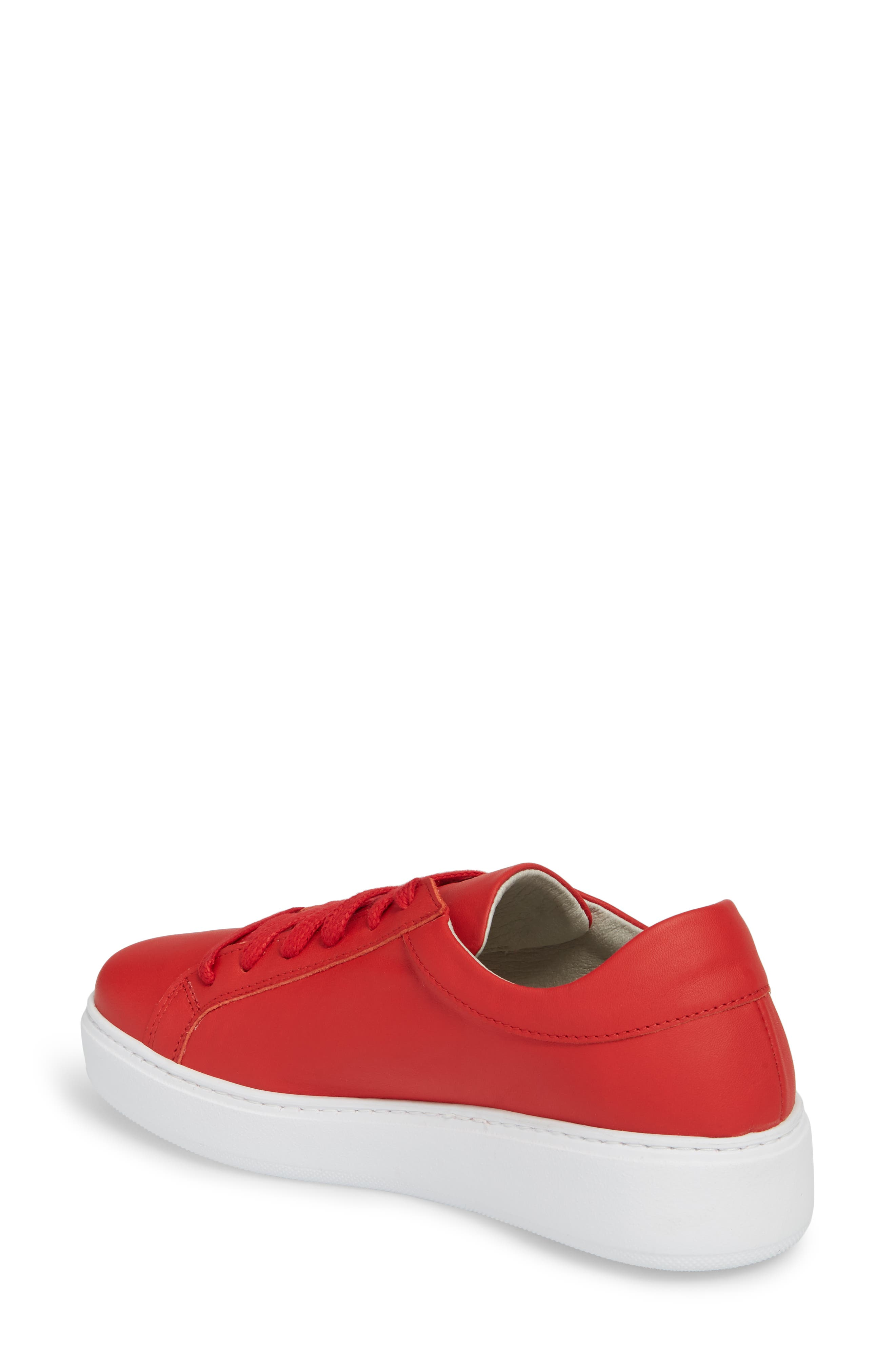 Tully Sneaker,                             Alternate thumbnail 2, color,                             Red Leather