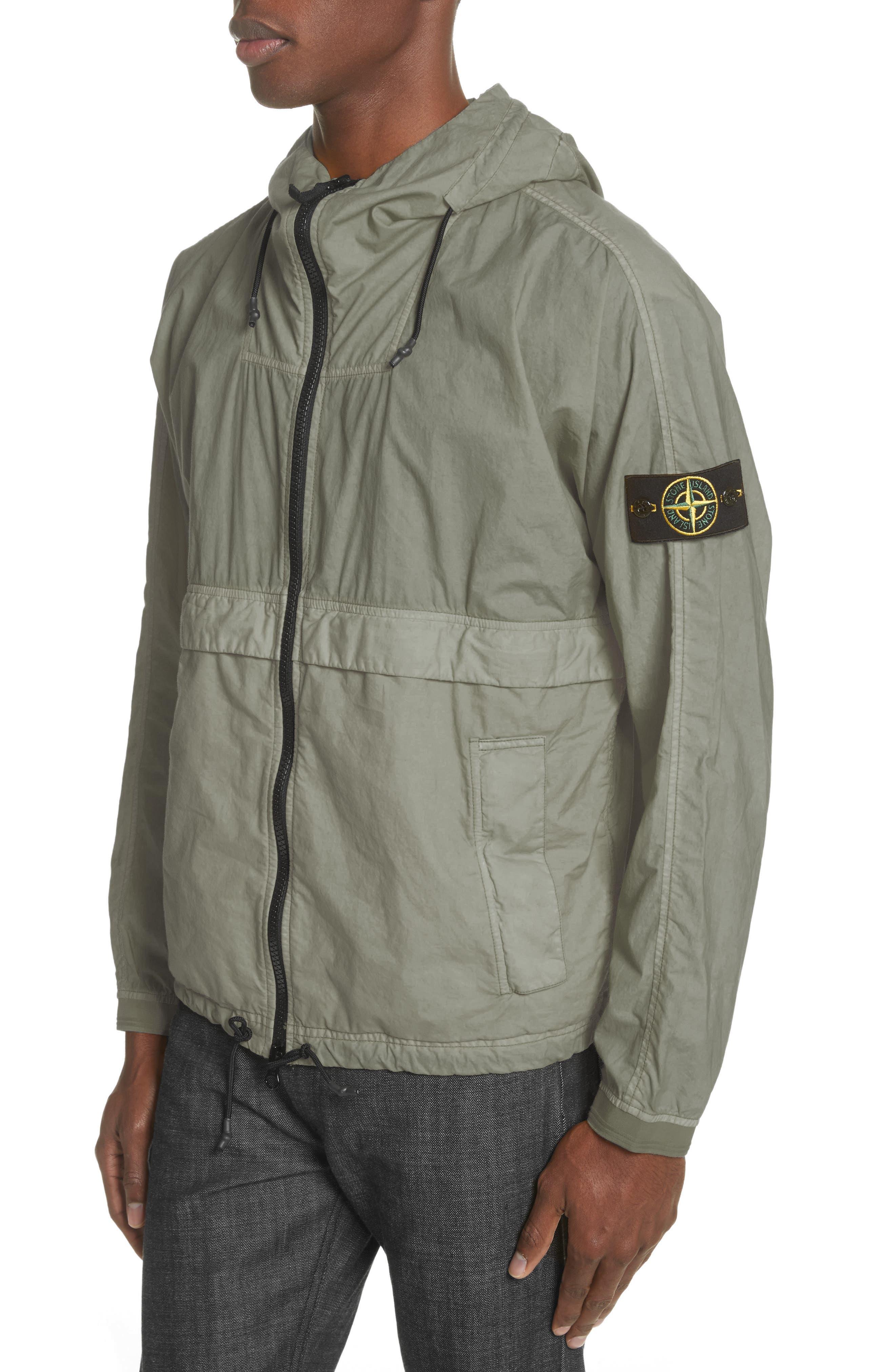 Poplin Hooded Jacket,                             Alternate thumbnail 4, color,                             Green